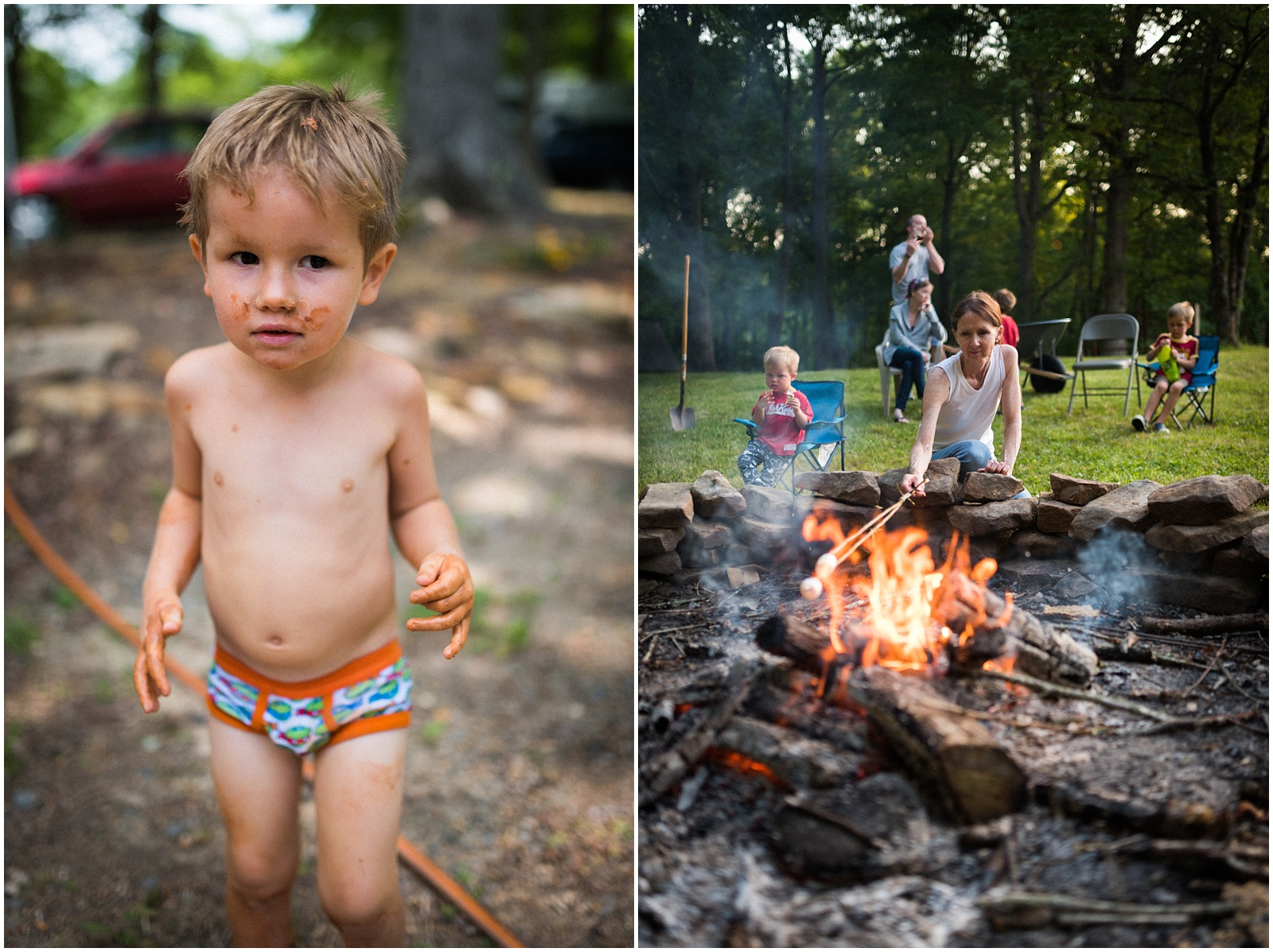 Camping collage