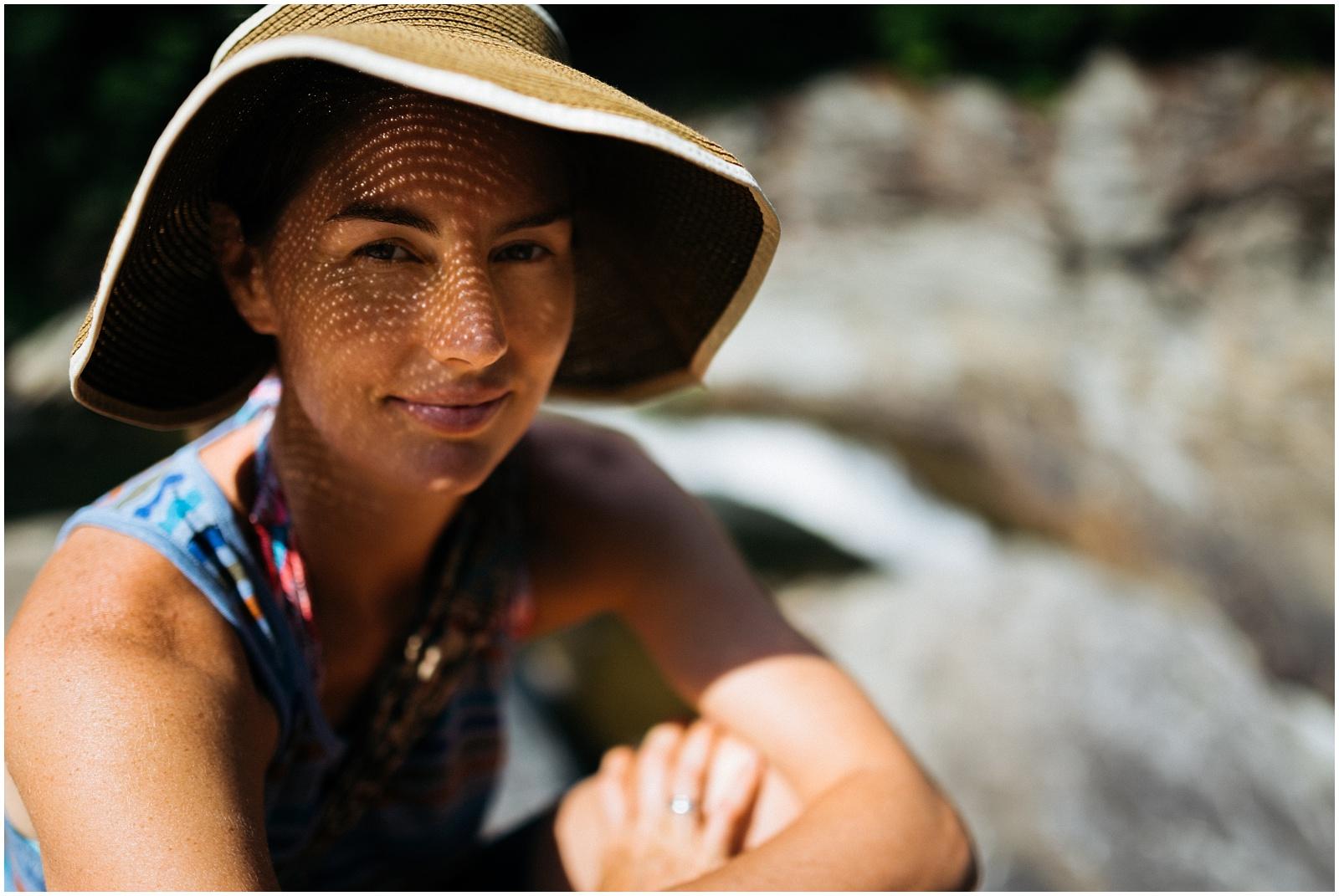 Emilie in hat in natural light