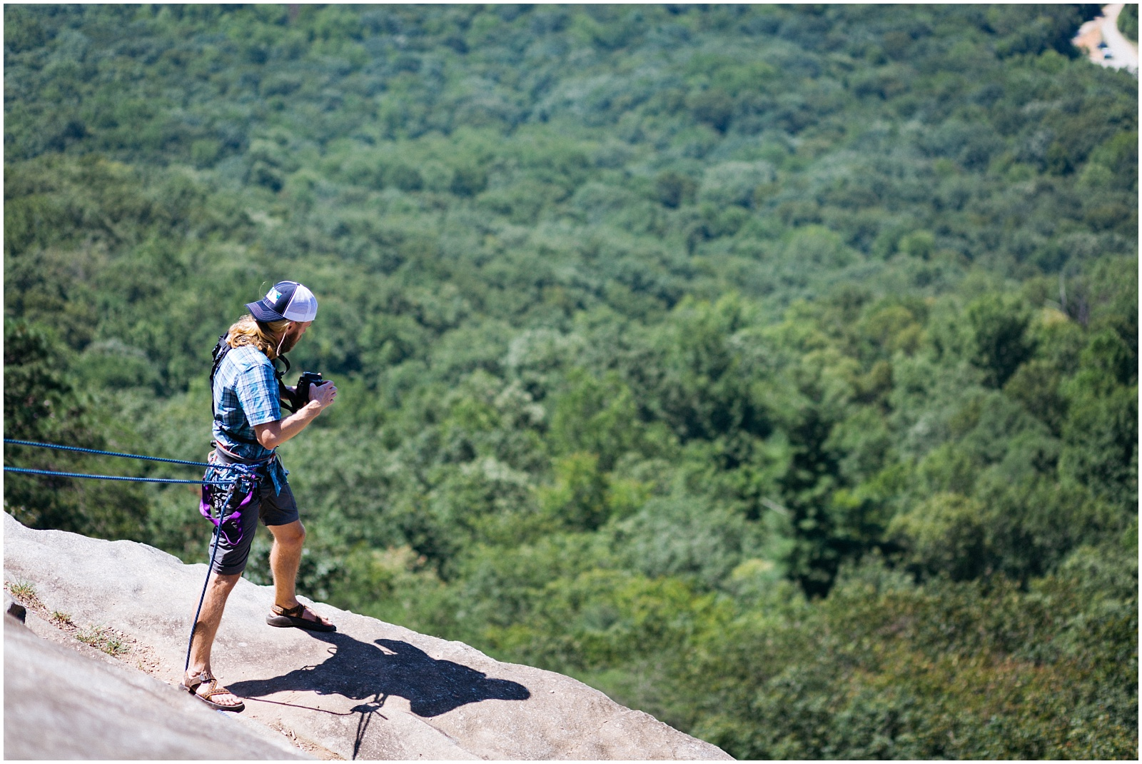 Shooting rock climbing