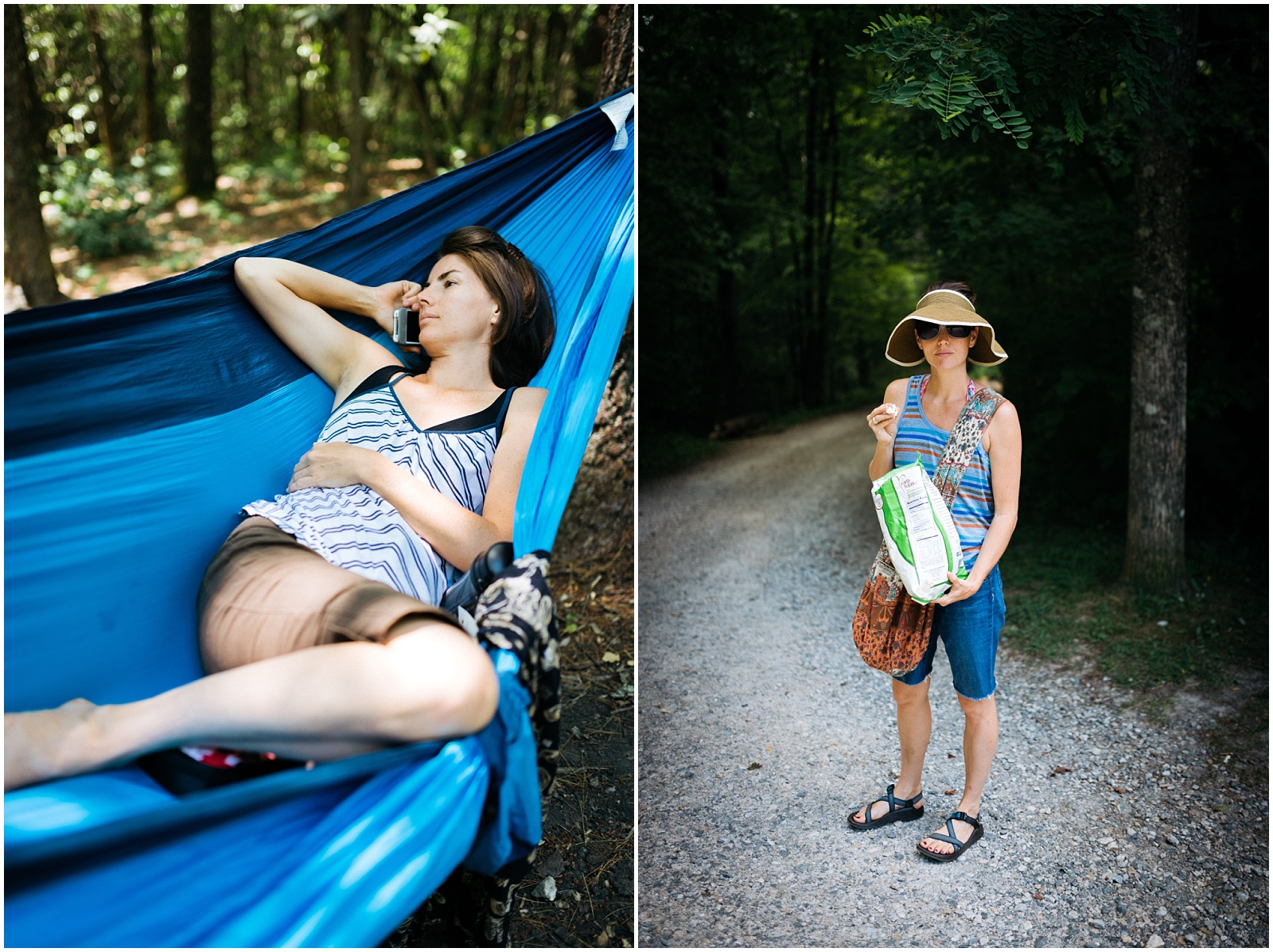 Candid camping pictures