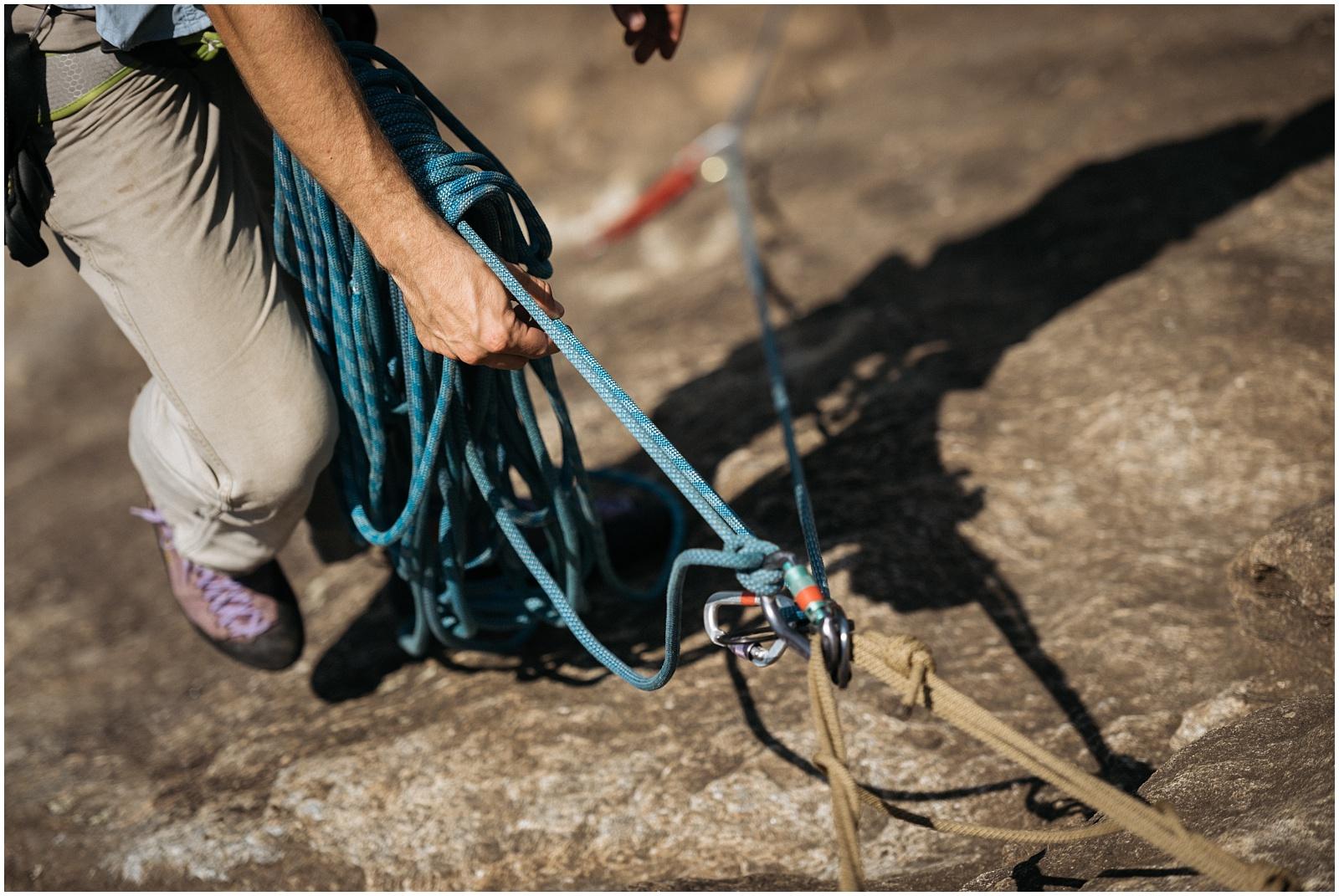 Climbing gear closeup