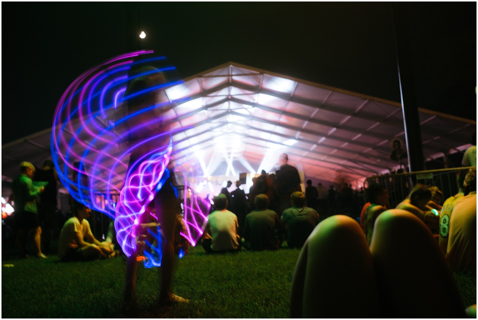 Night show long shutter speed