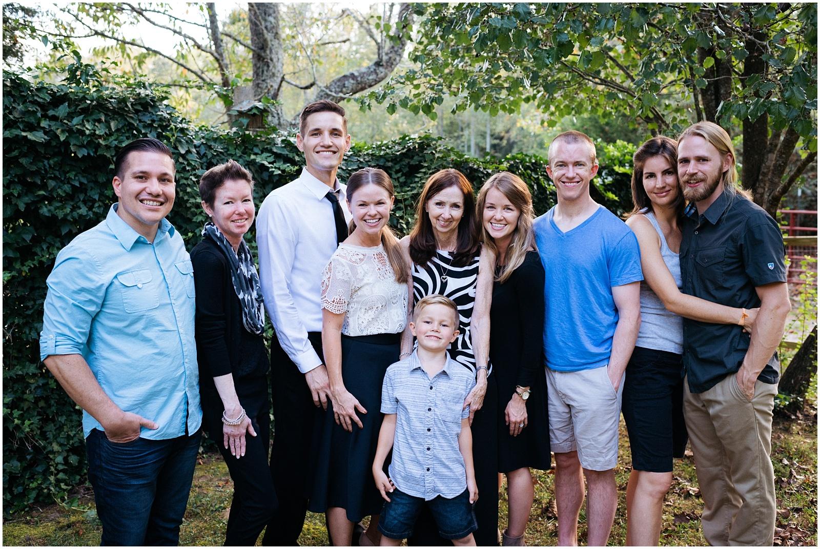 Whole family portrait