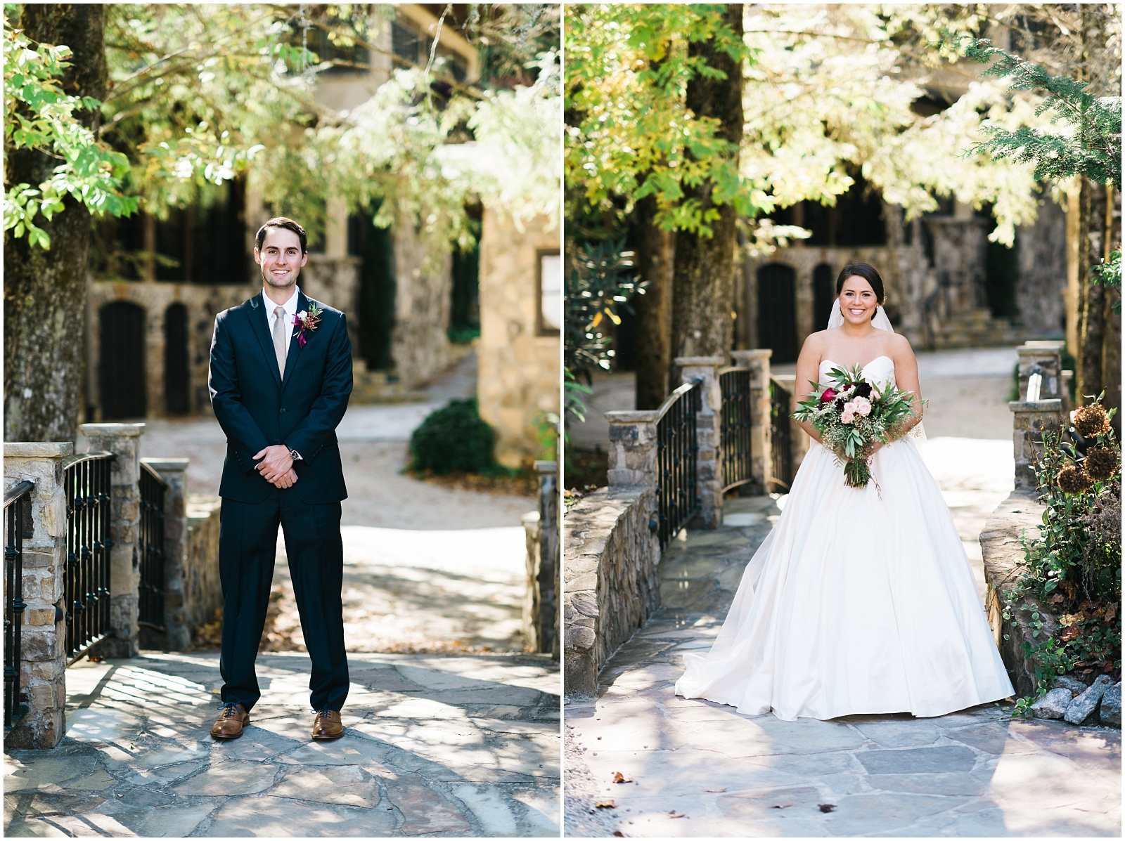 Bride and Groom wide portraits