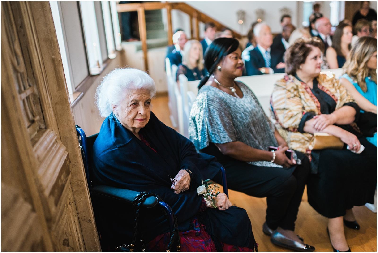 Grandmother watching ceremony