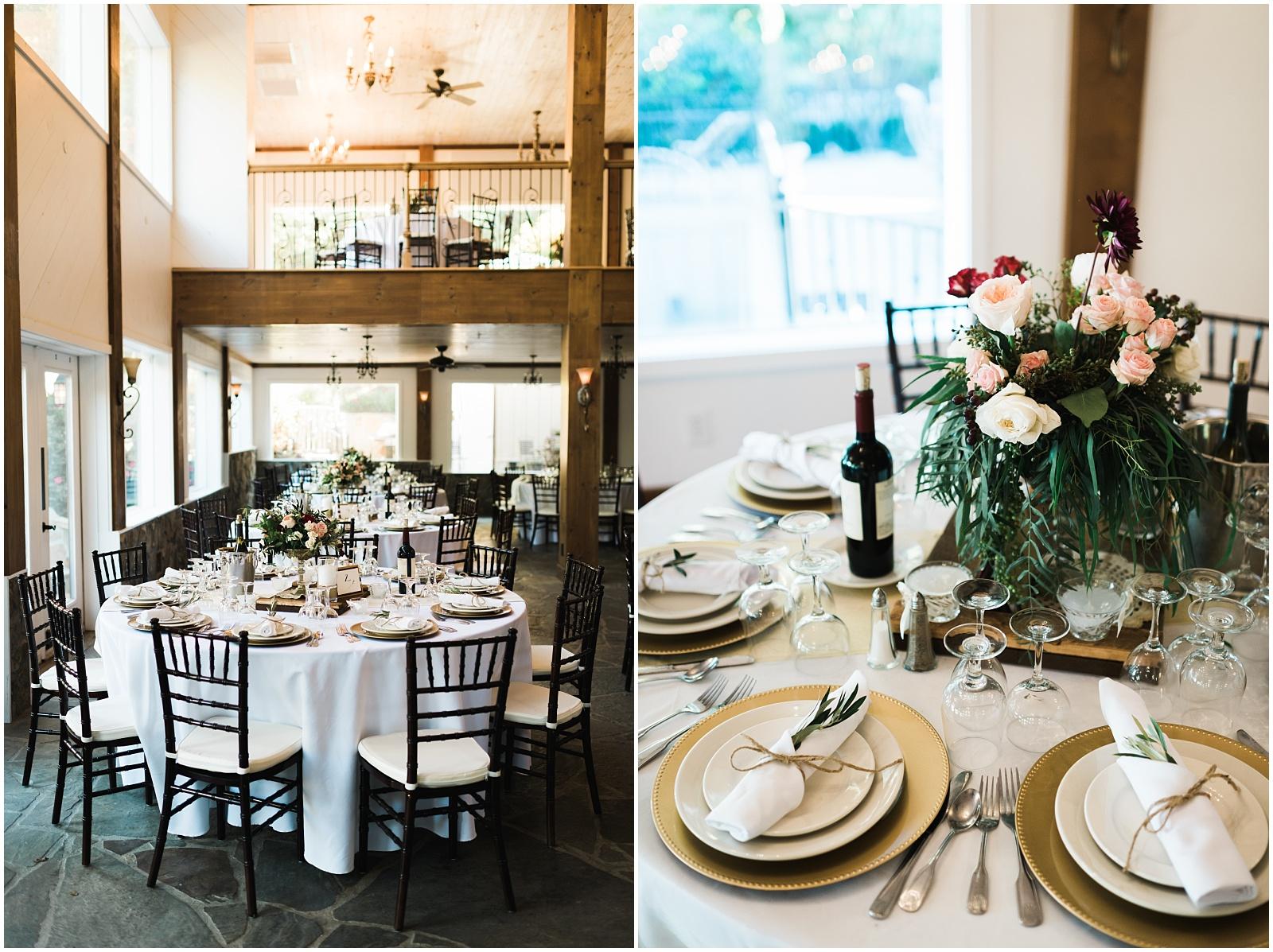 Table photos for wedding reception