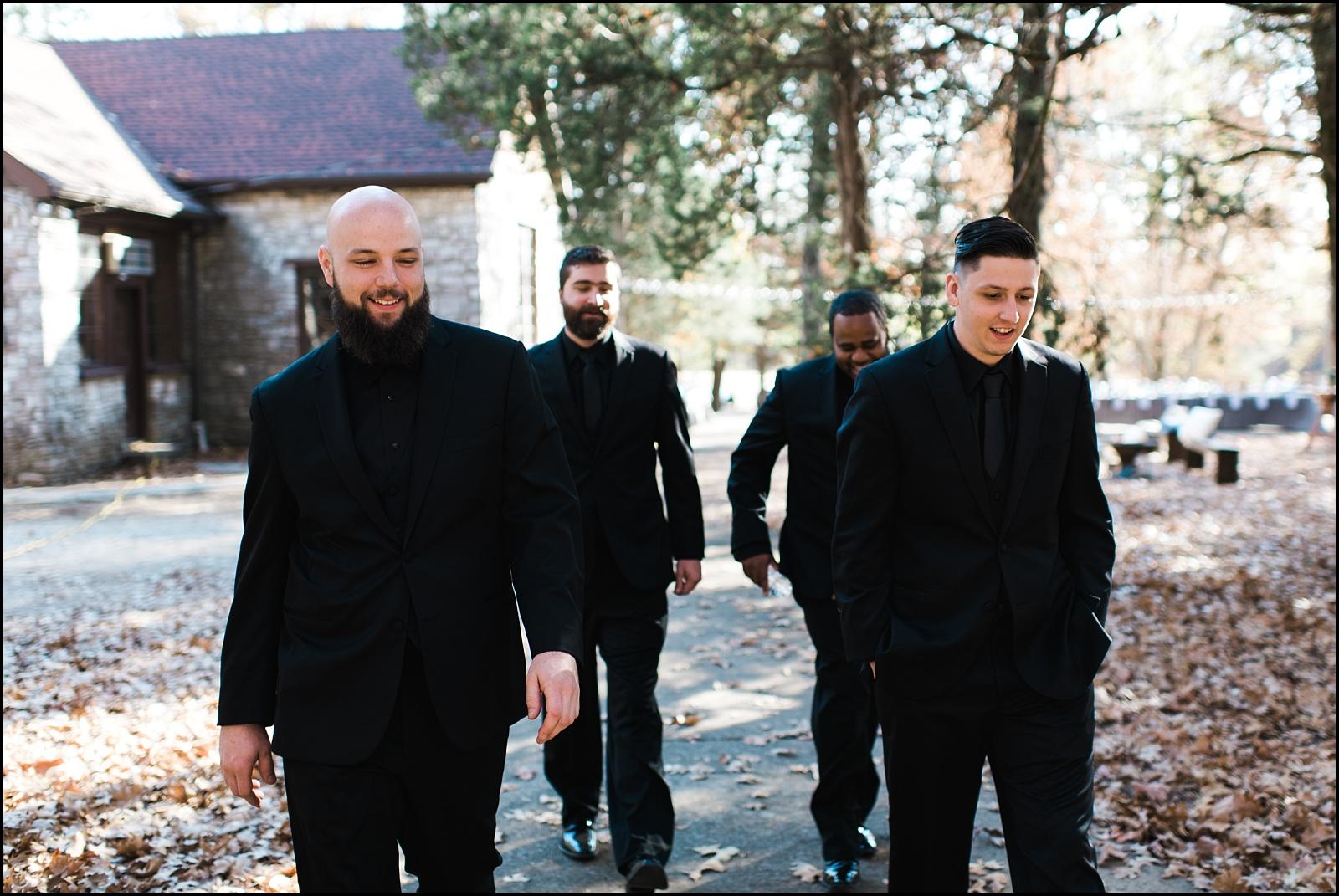 Groomsmen walking