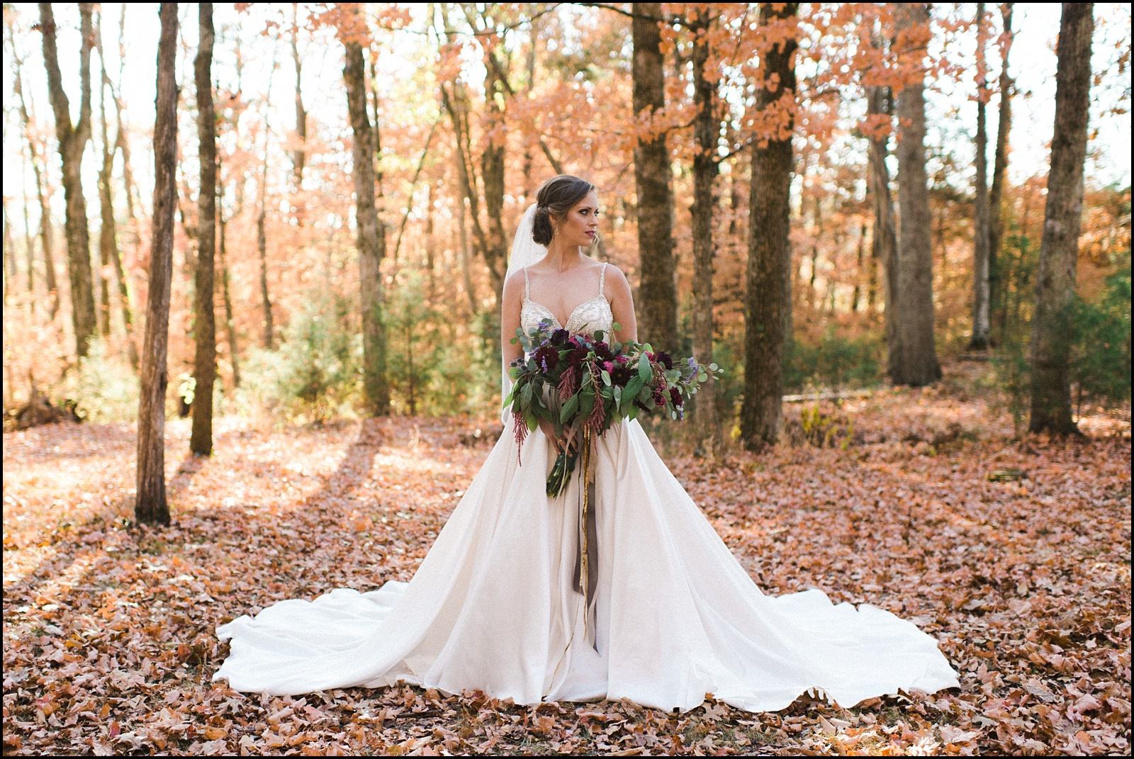 Bride portrait at Cedars of Lebanon wedding in Fall