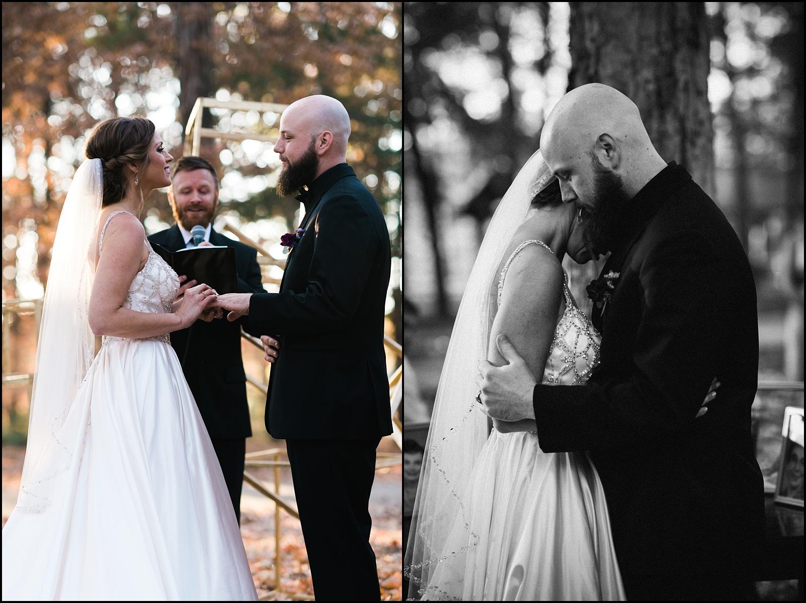 Fall ceremony moments at Nashville Wedding