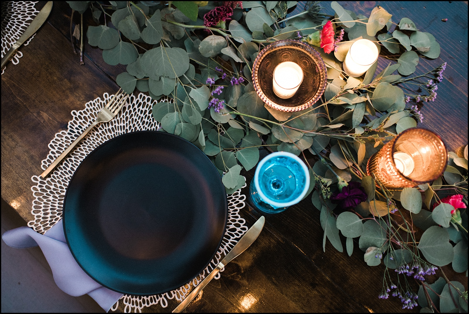 Modern rustic table details