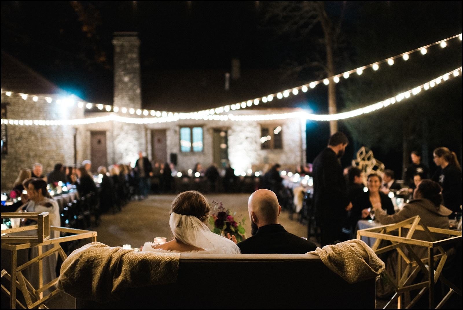 Candid natural light shot of reception at Cedars of Lebanon