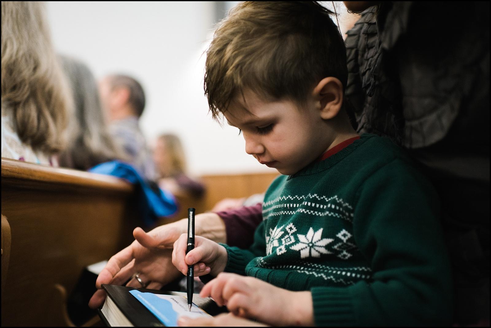 Kid at church