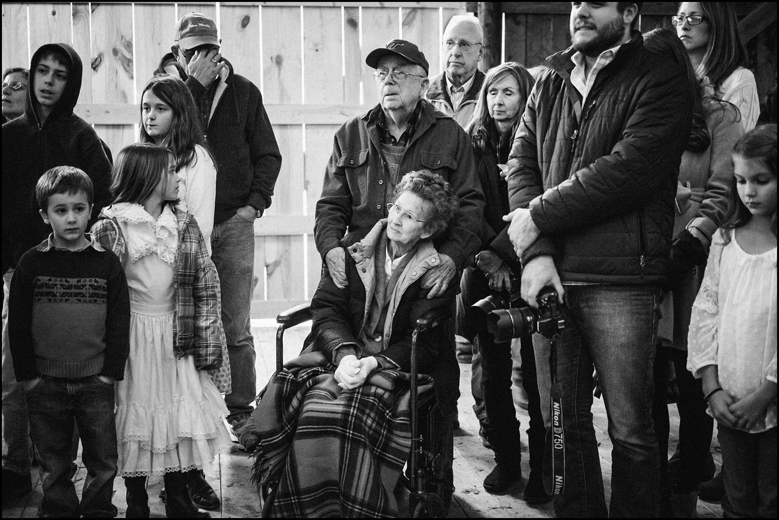 Grandparents in black and white