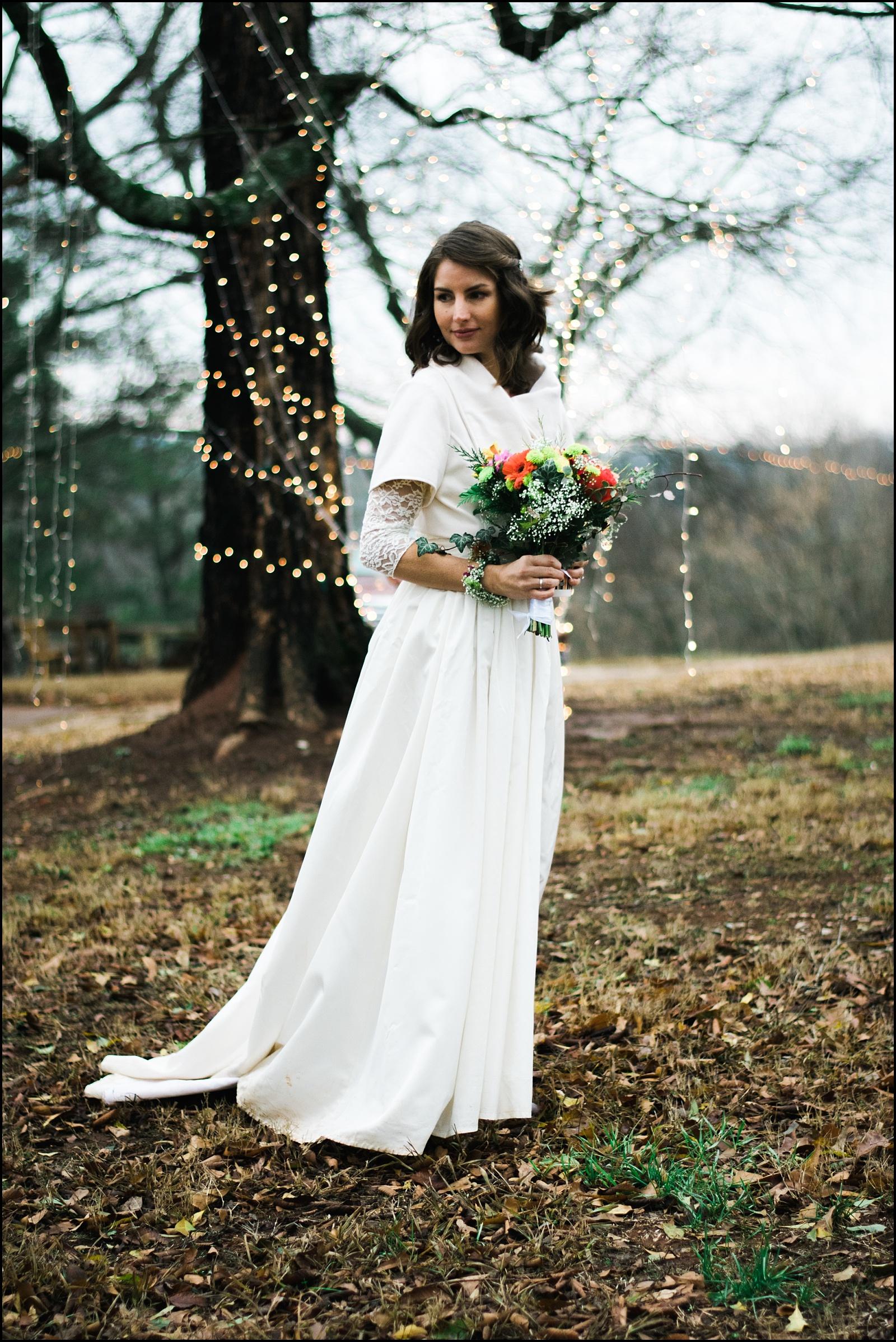 Bridal portrait after wedding