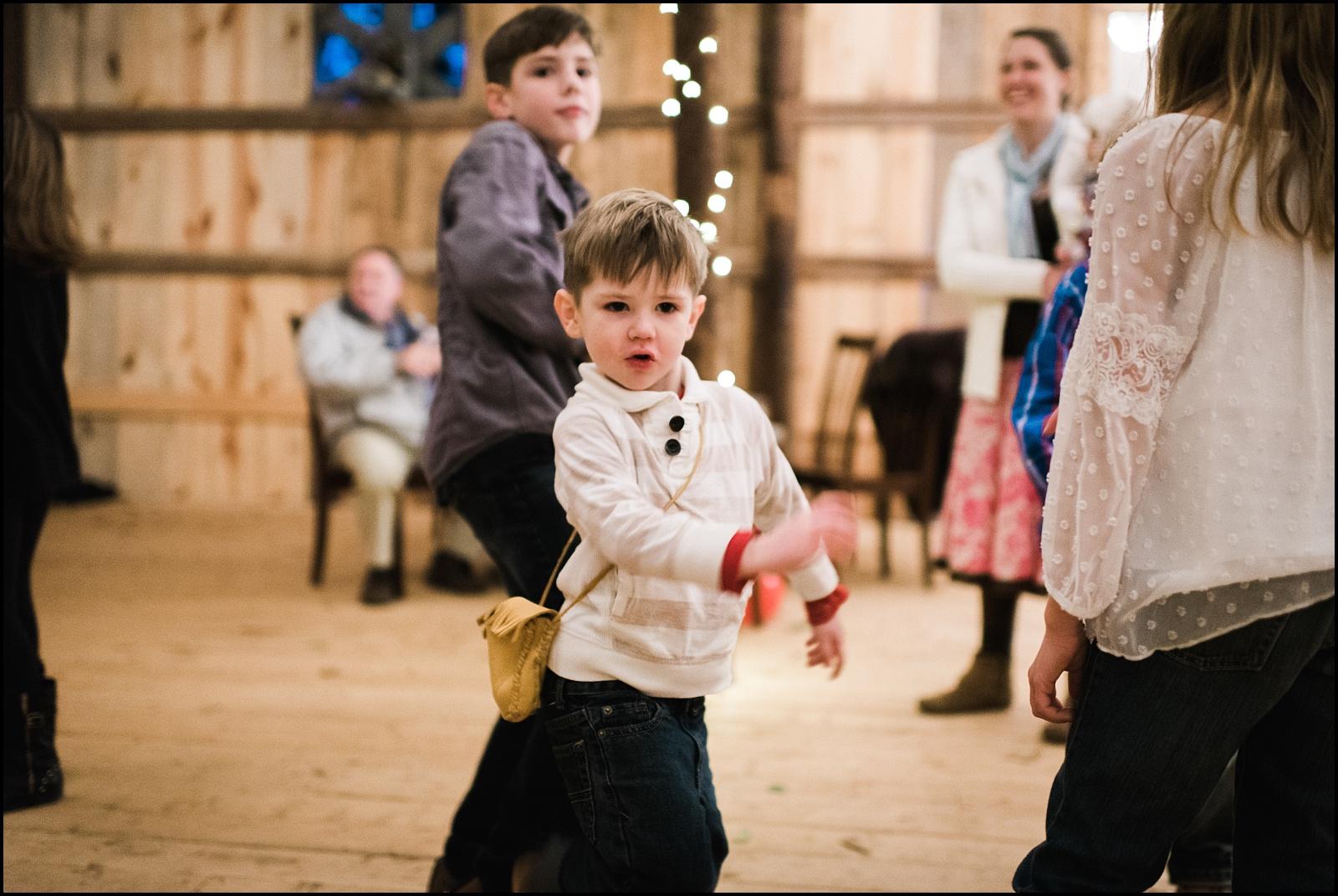 Boy on ceremony dance floor