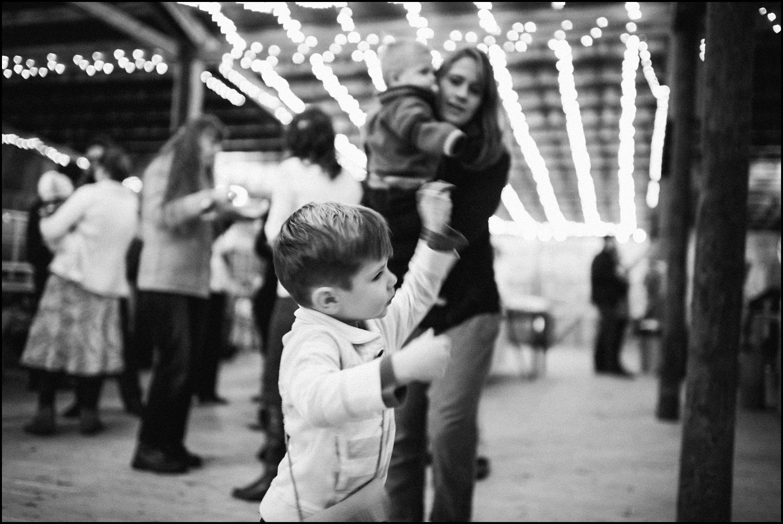 B&W kid dancing