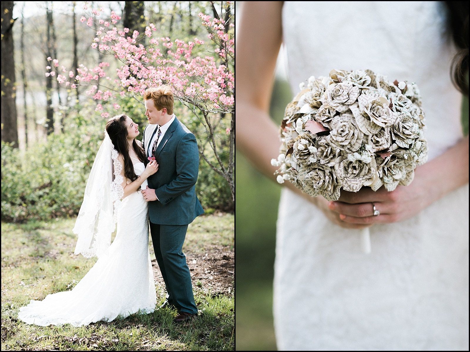 Handmade bouquet and formal picture