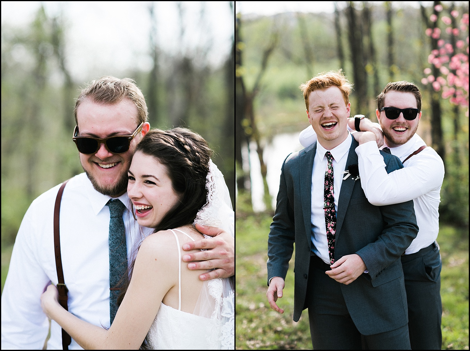 Bridal party candid pictures