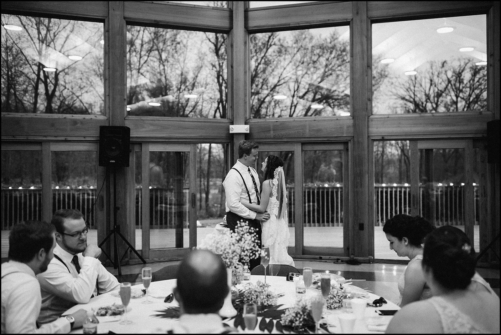 First dance wide photograph at reception