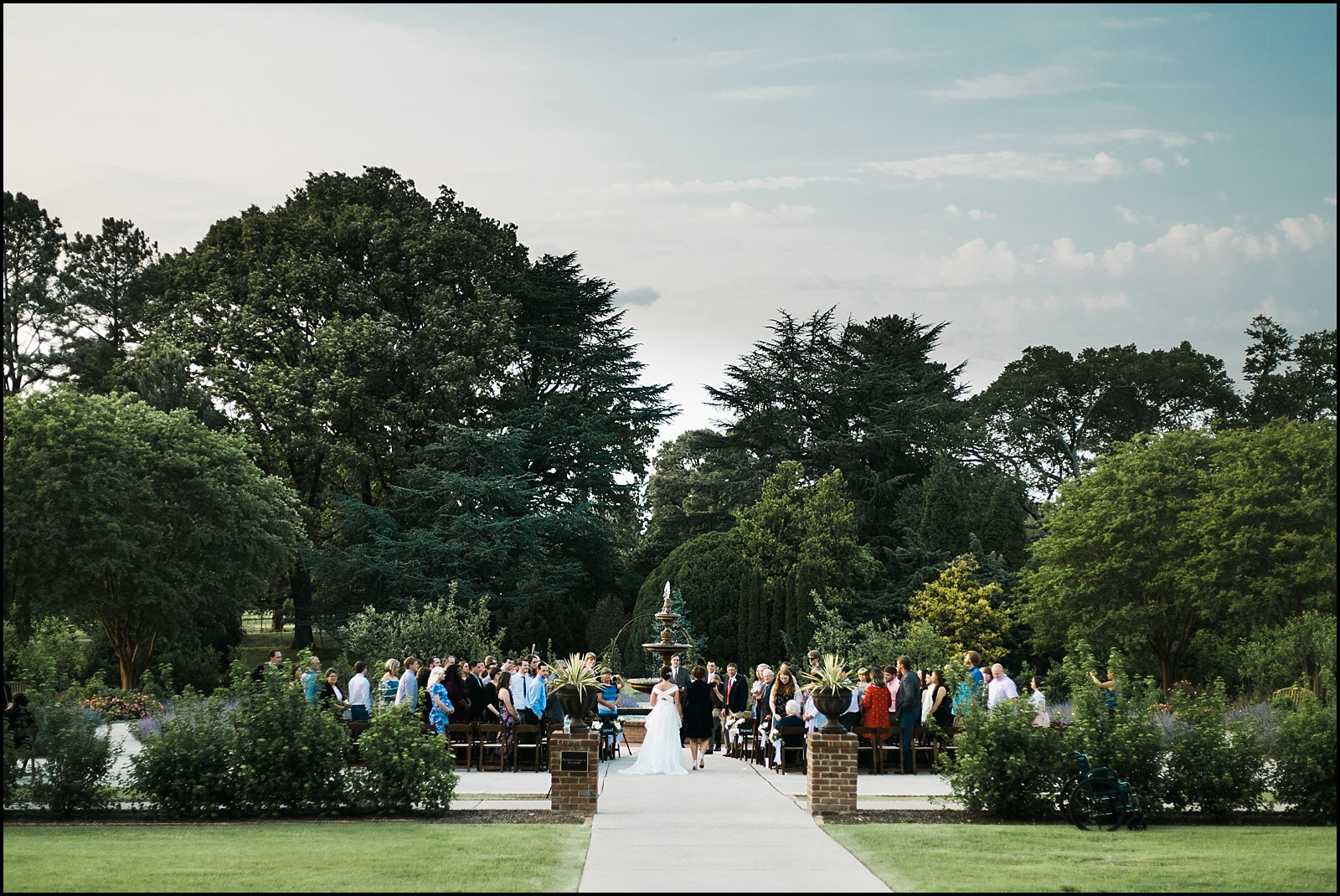 Memphis Botanic Garden outdoor wedding