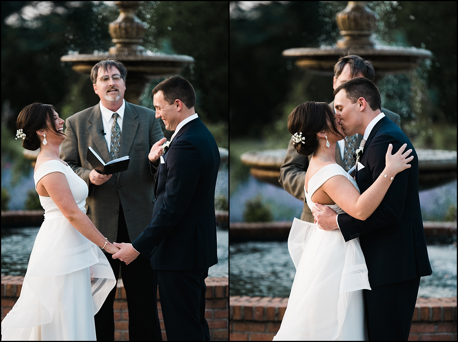 First kiss at Memphis wedding