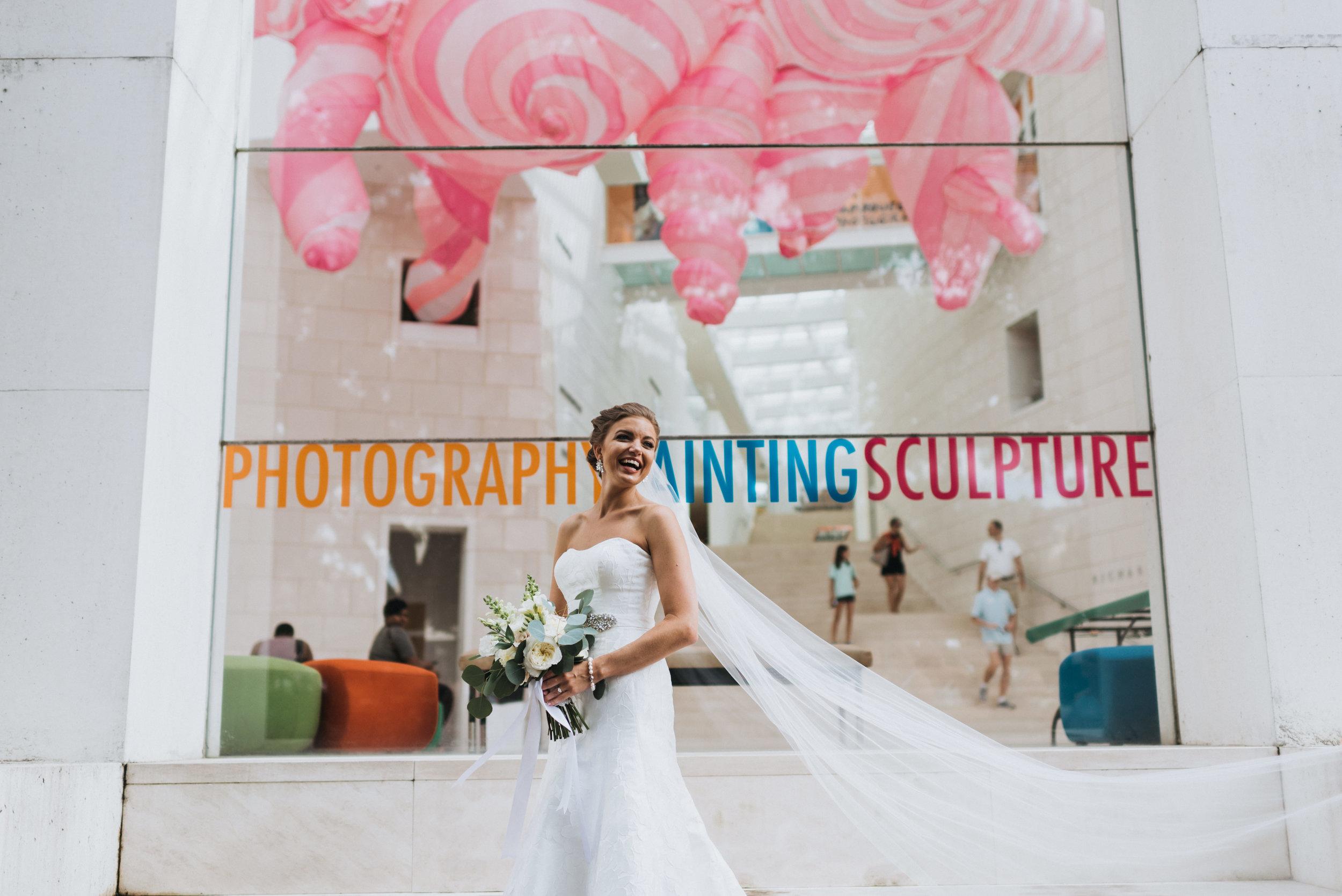 Bridal portrait candid