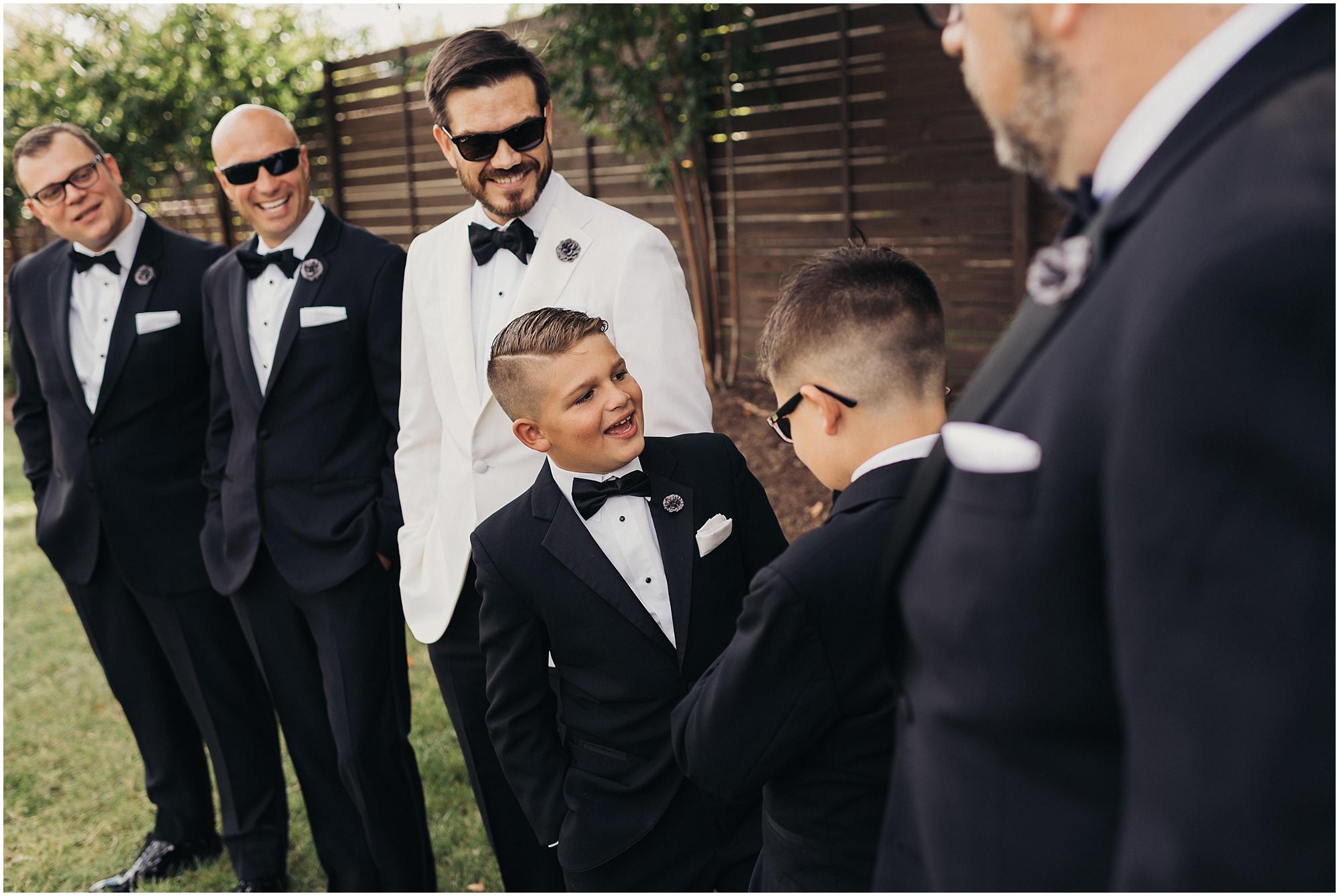 Young groomsmen