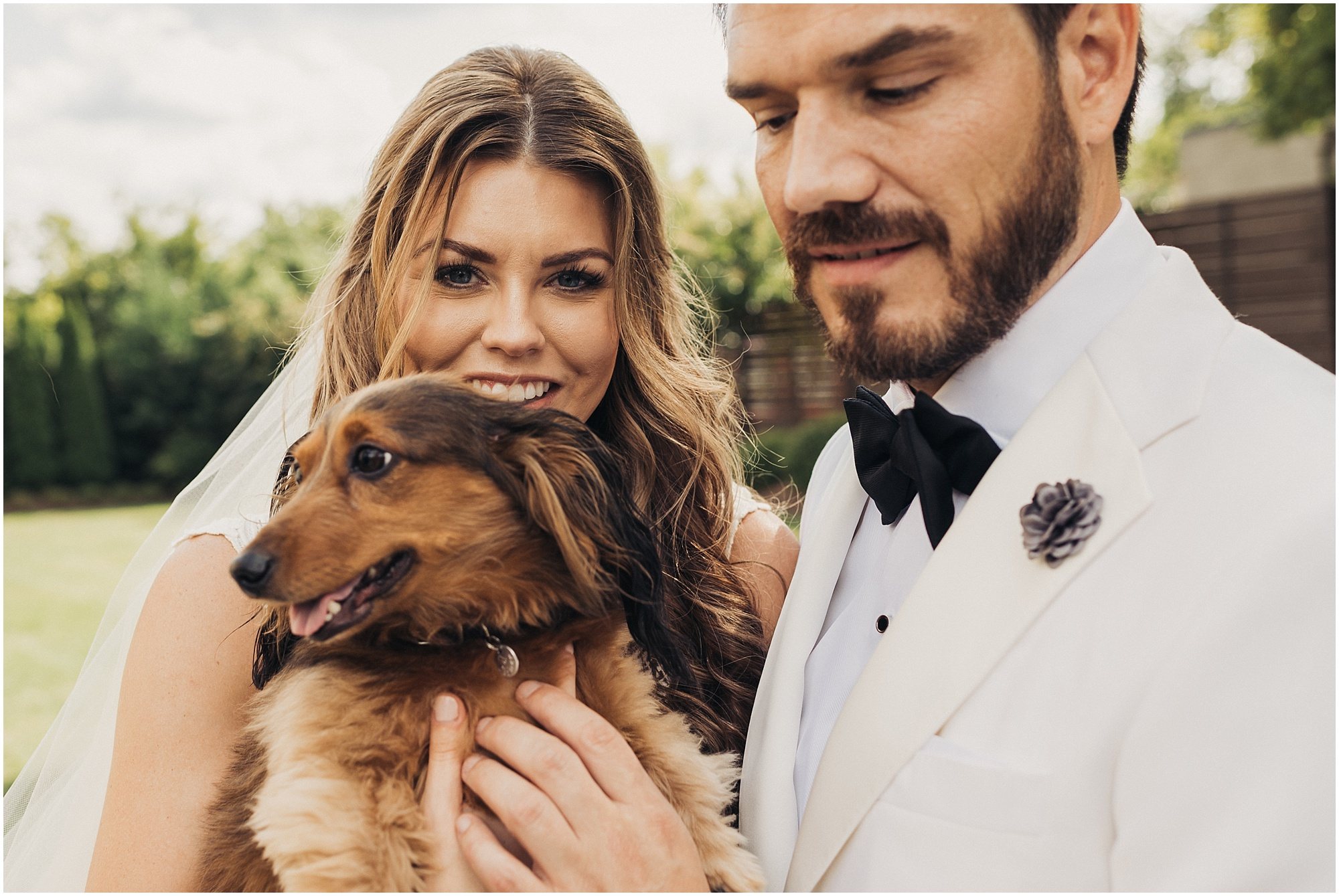 Candid portrait with dog at Cordelle