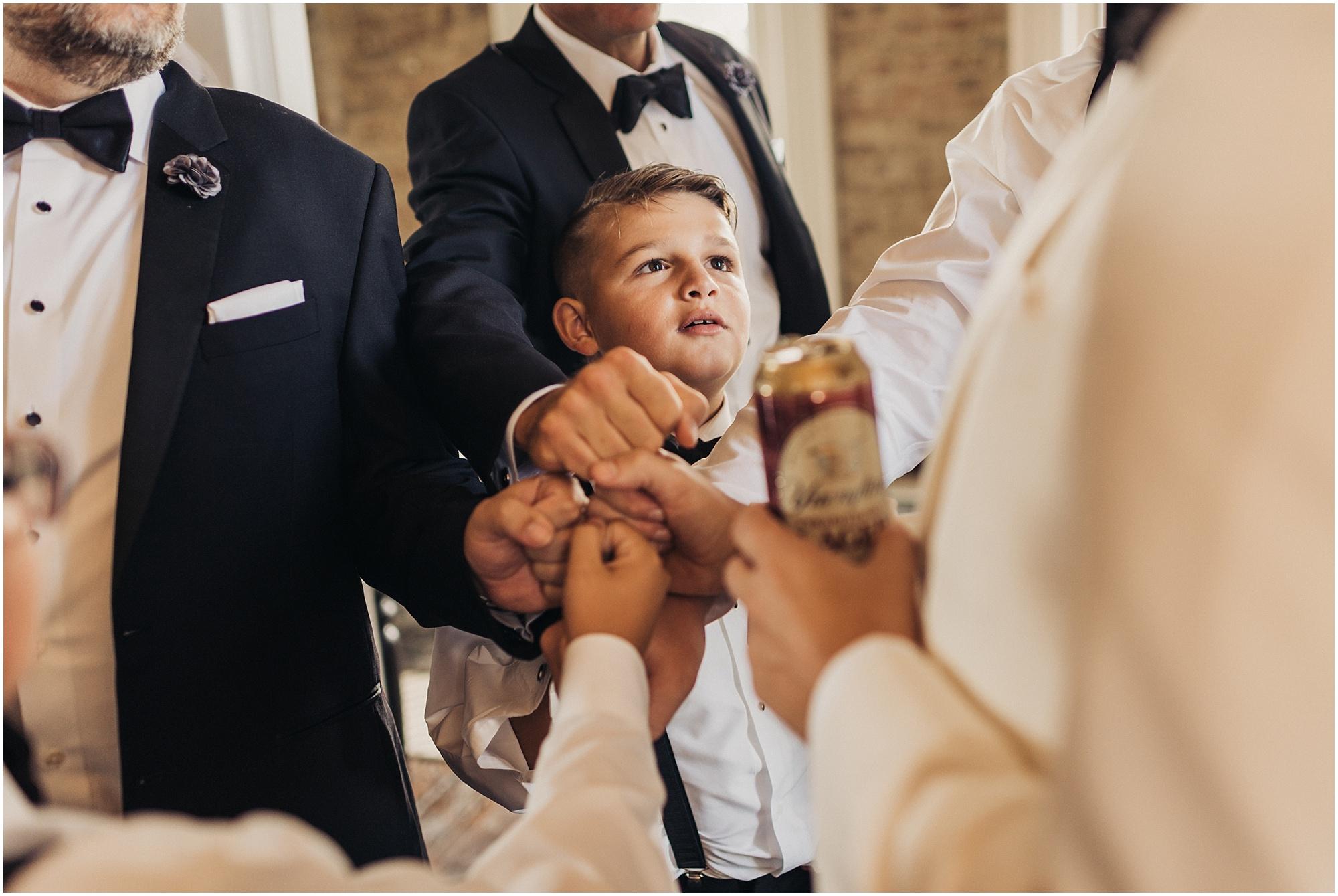 Cheers before ceremony