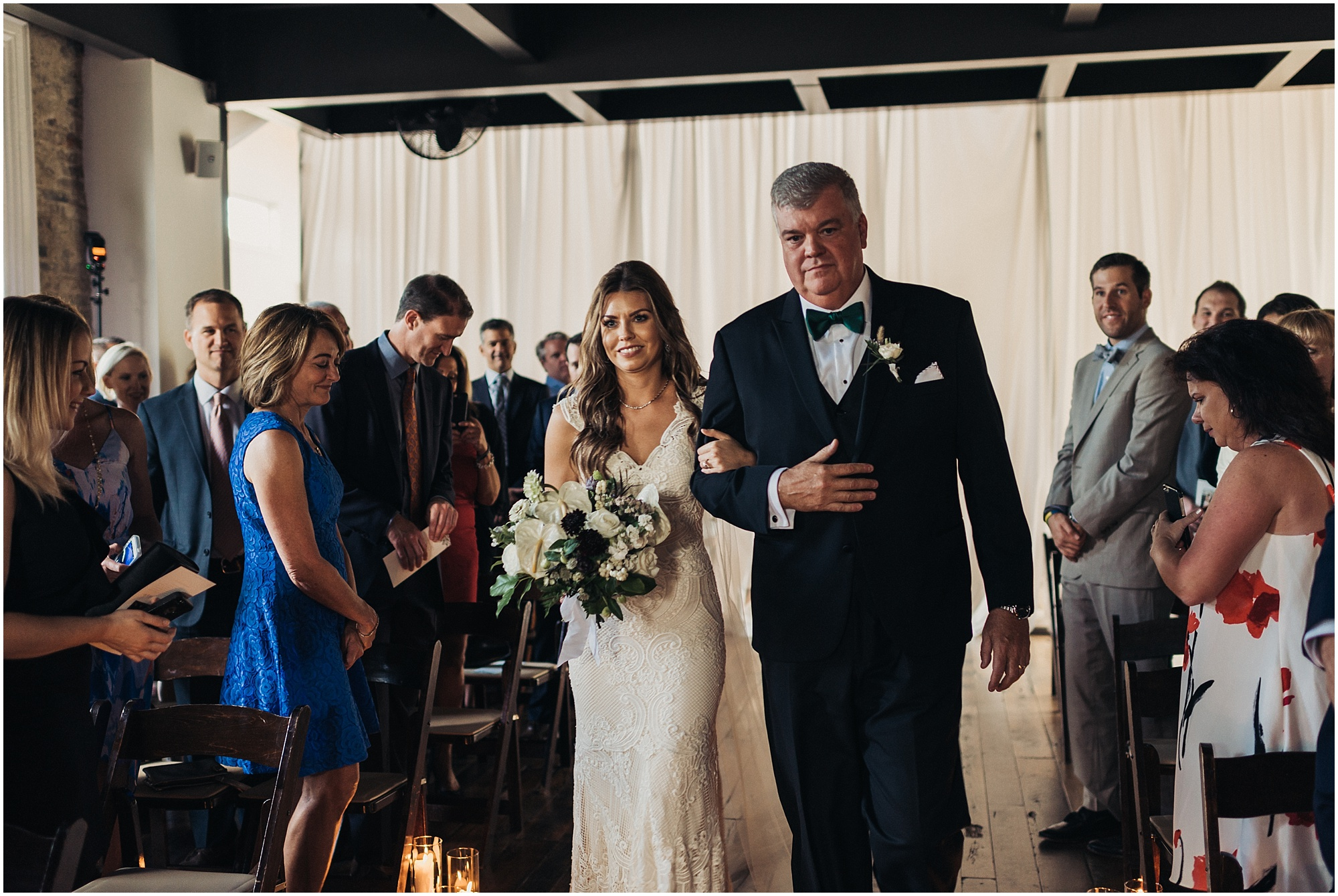 Walking down aisle at The Cordelle
