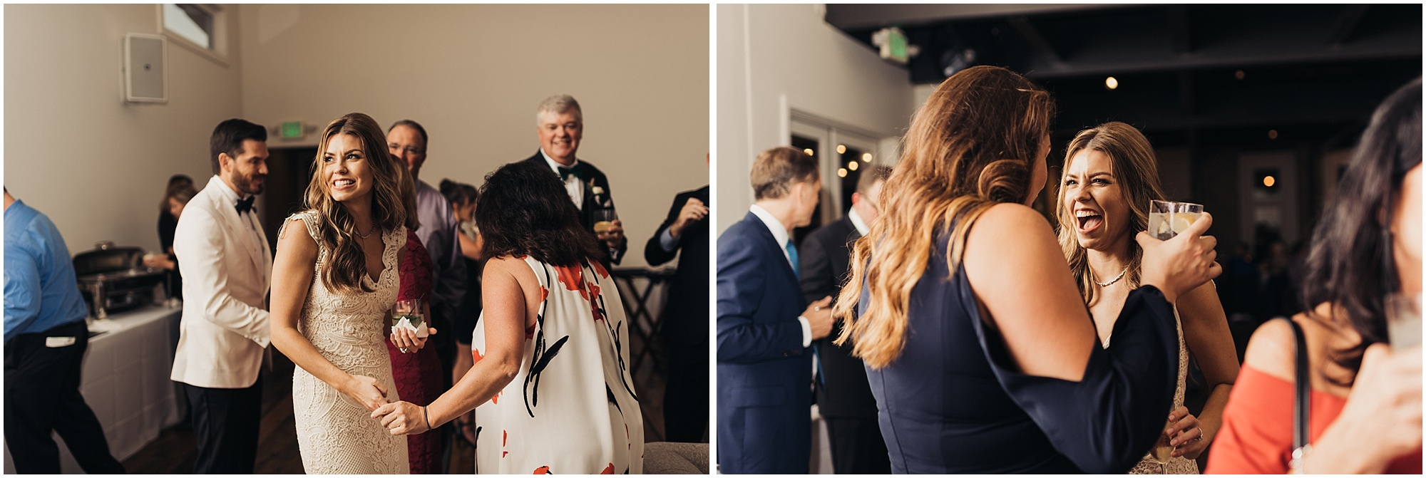 Candid moments at reception