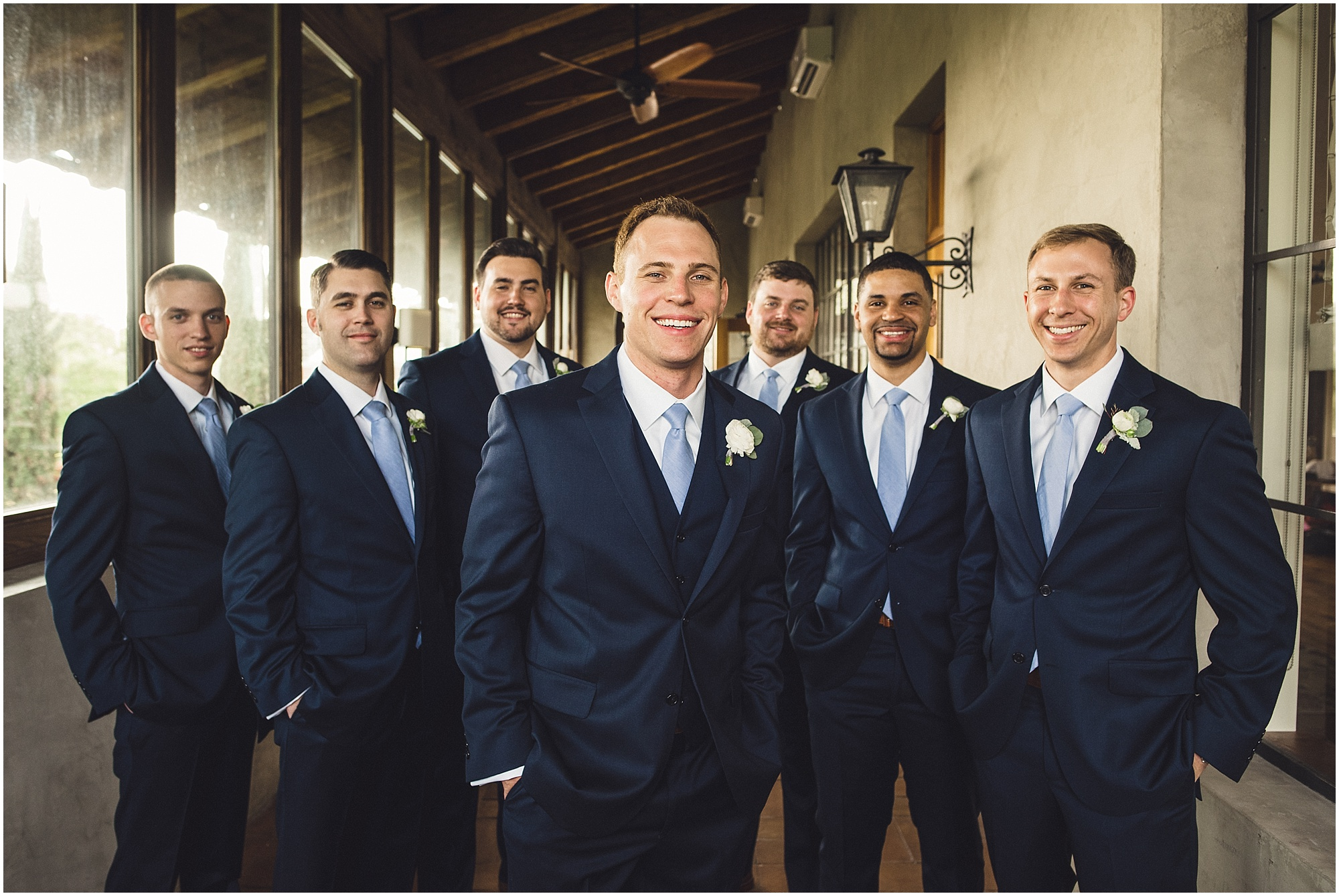 Groomsmen looking cool