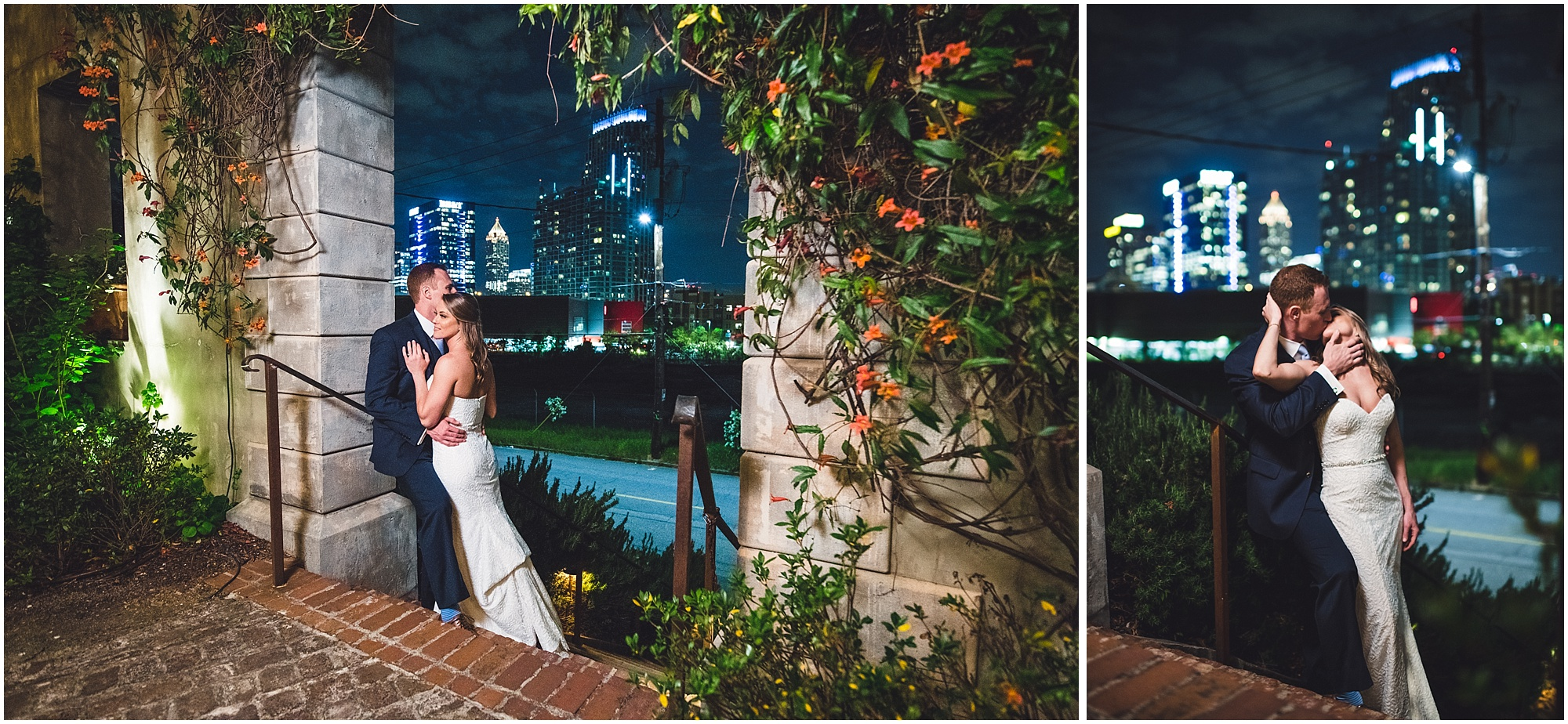 Portraits with Atlanta night skyline