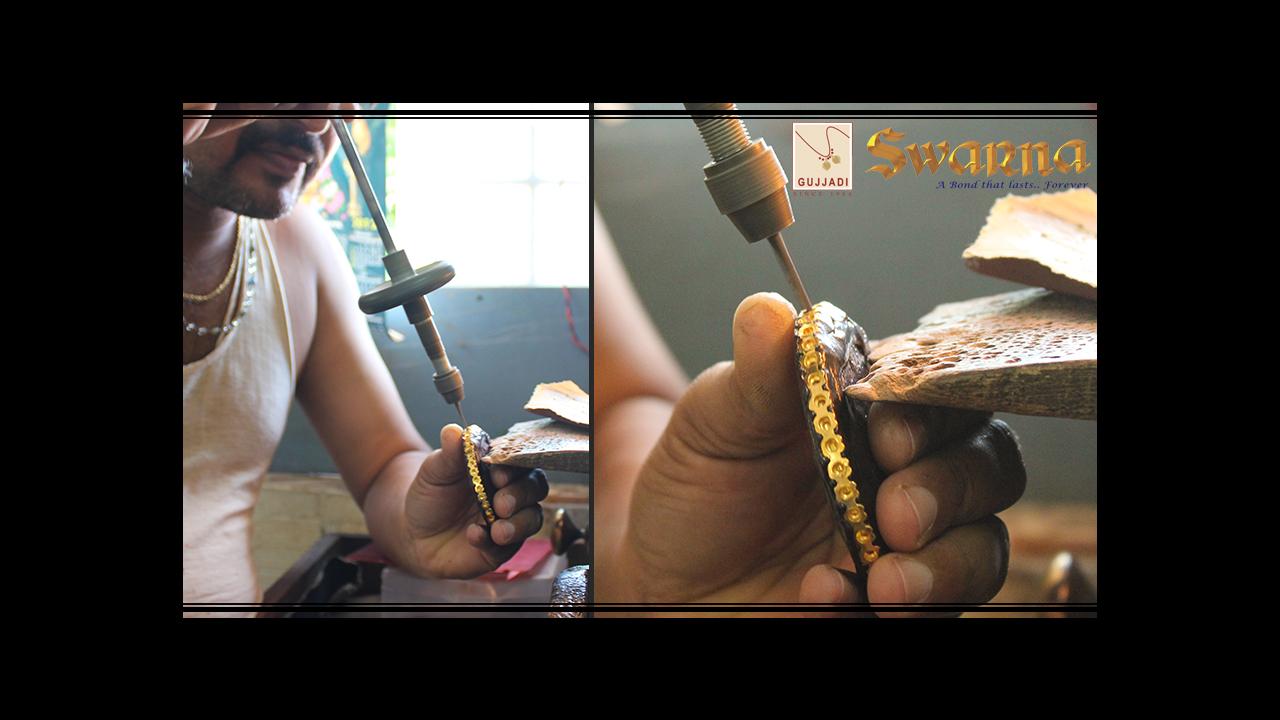 Drill Press process on a Bangle