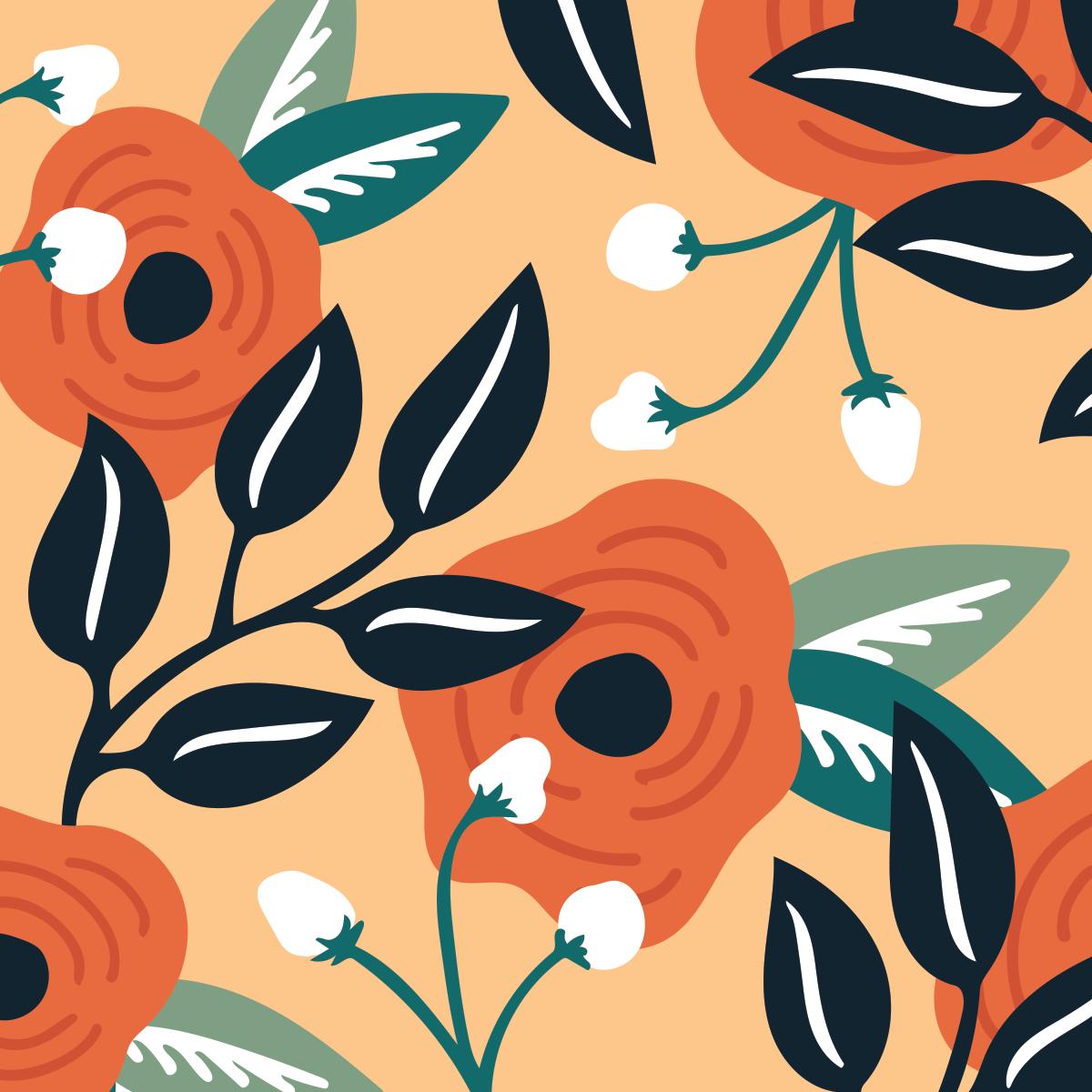 Botanical pattern by Pace Creative Design Studio