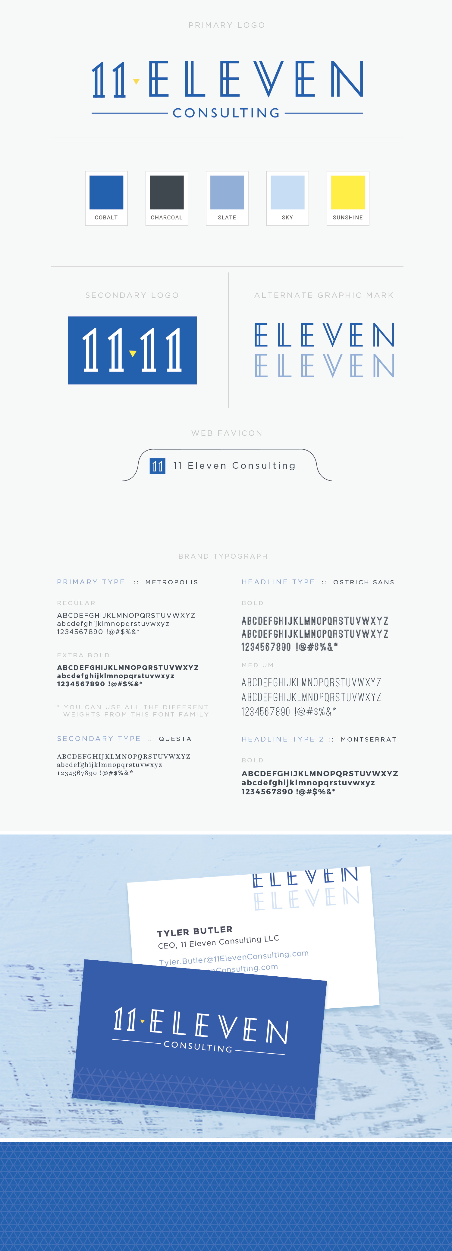 11 Eleven Consulting branding by Pace Creative Design Studio