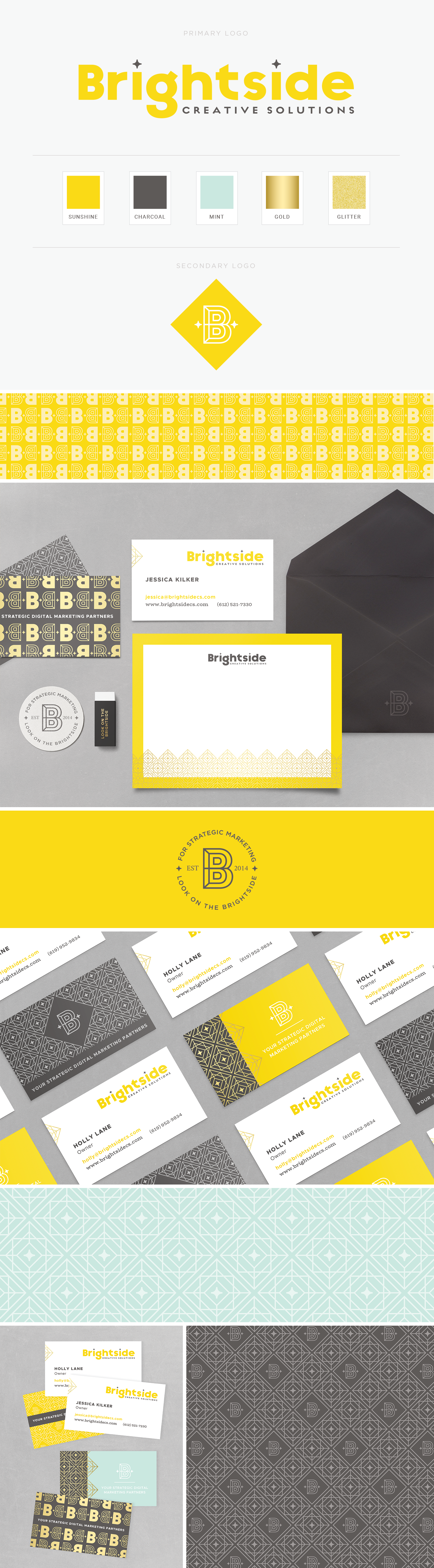 Brightside Creative Solutions branding by Pace Creative Design Studio