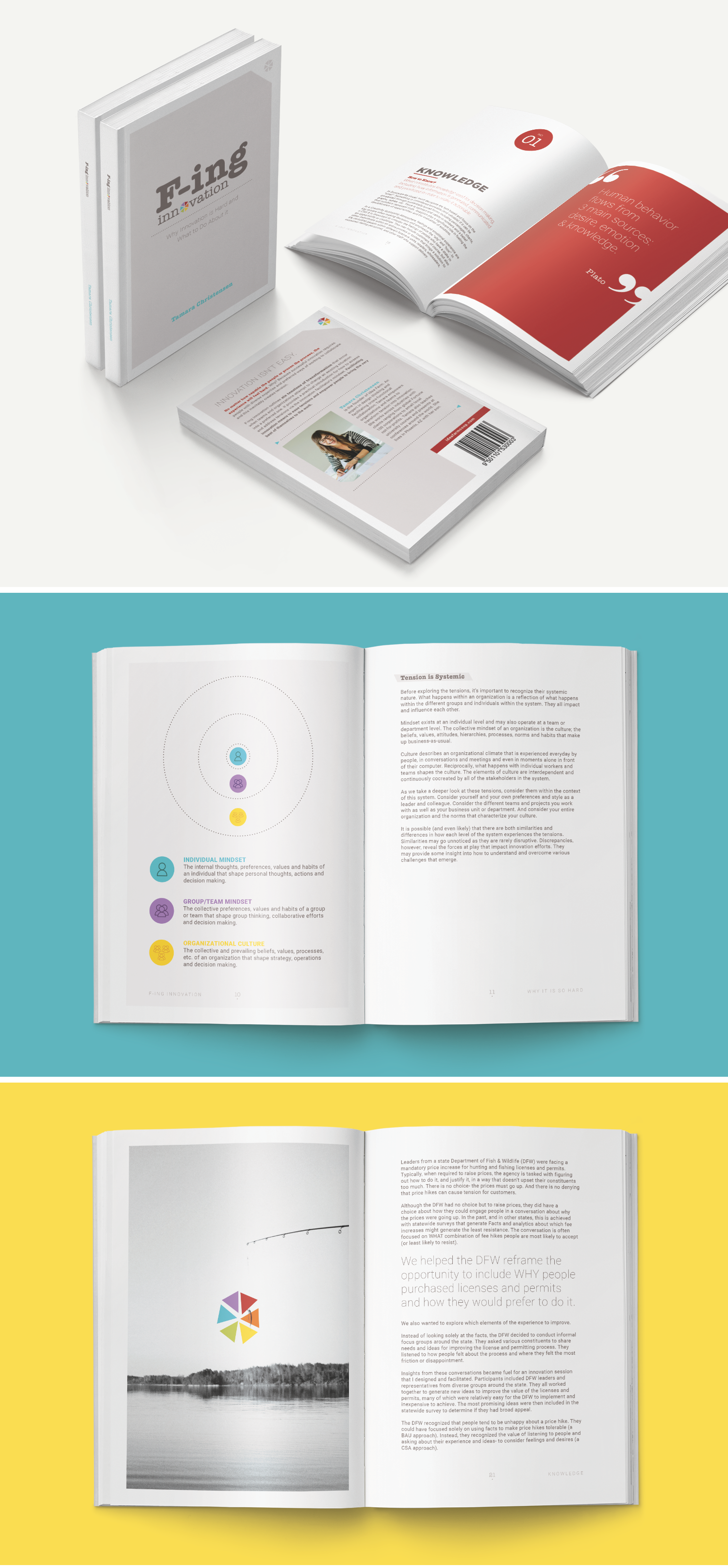 F-ing Innovation book design by Pace Creative Design Studio