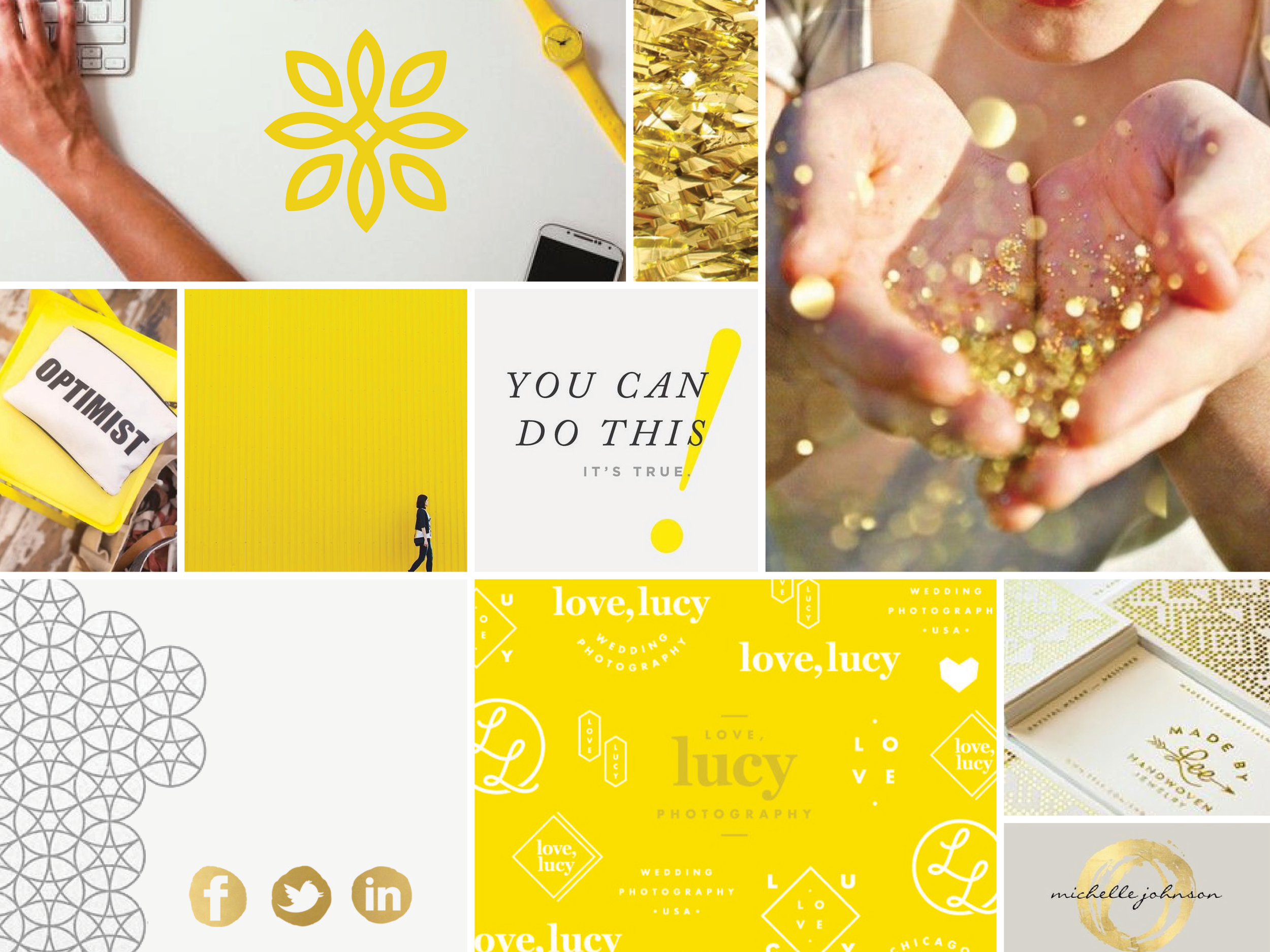Brightside Creative Solutions Mood Board by Pace Creative Design Studio