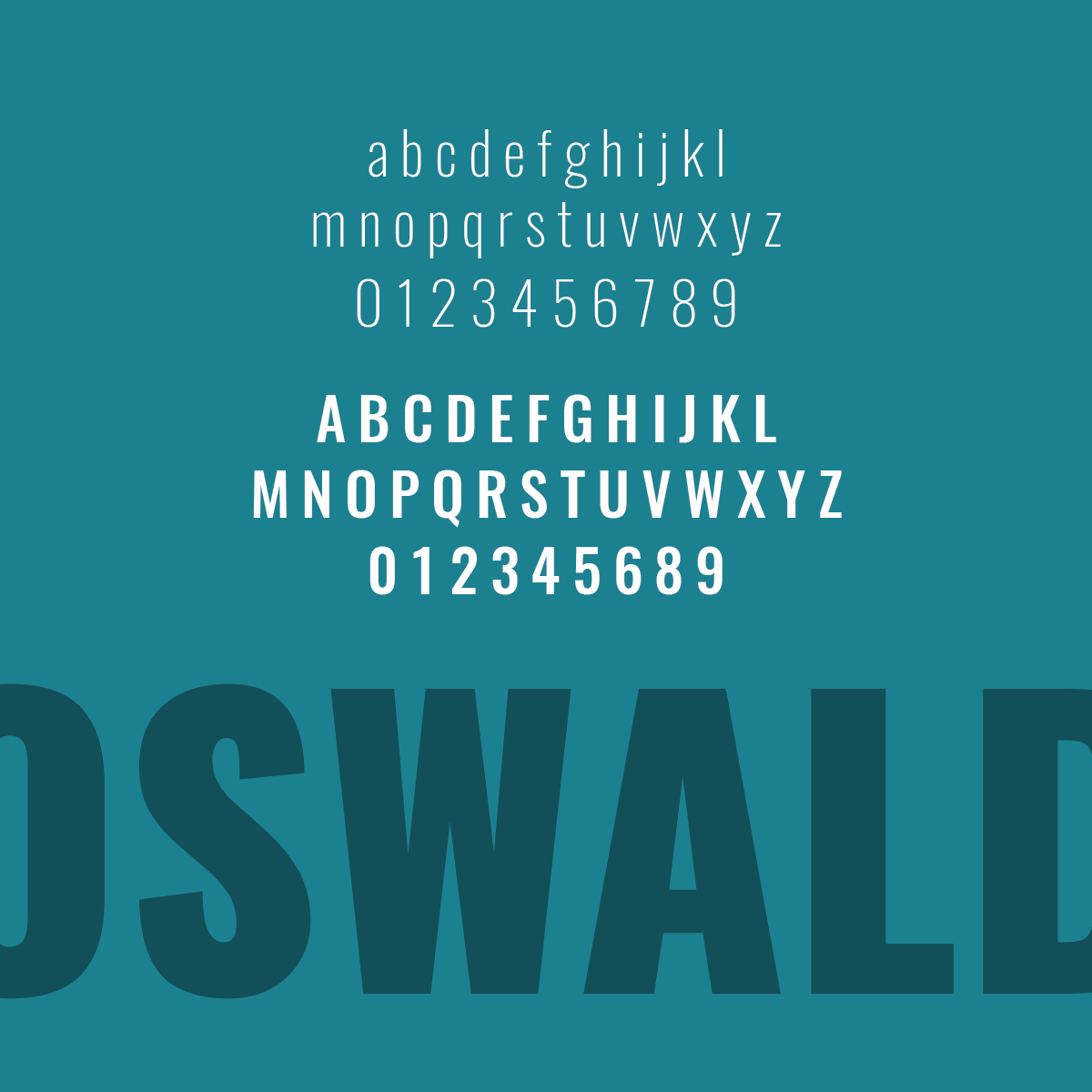 Favorite Font Friday No. 1 – Oswald