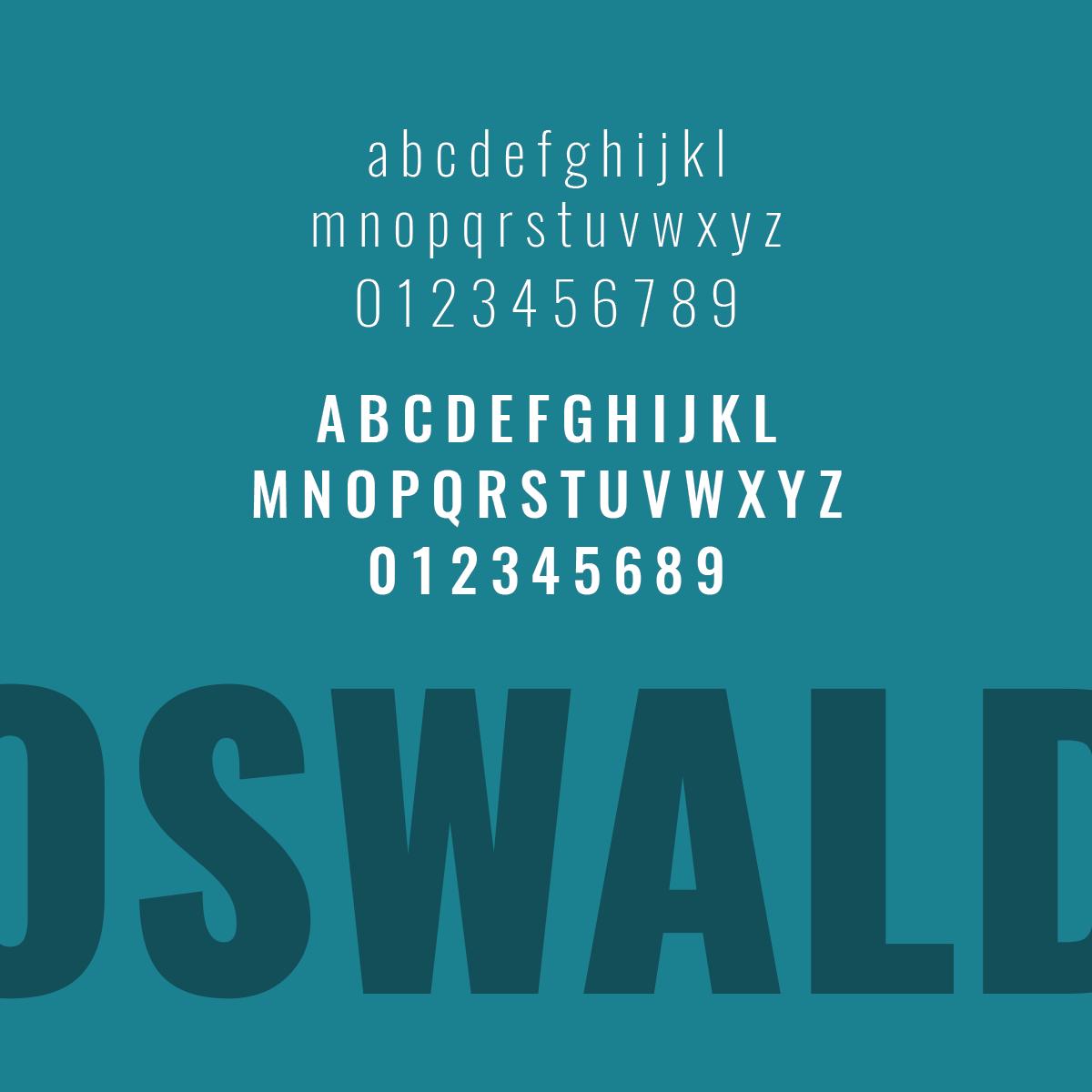 Favorite Font Friday No. 1 – Oswald