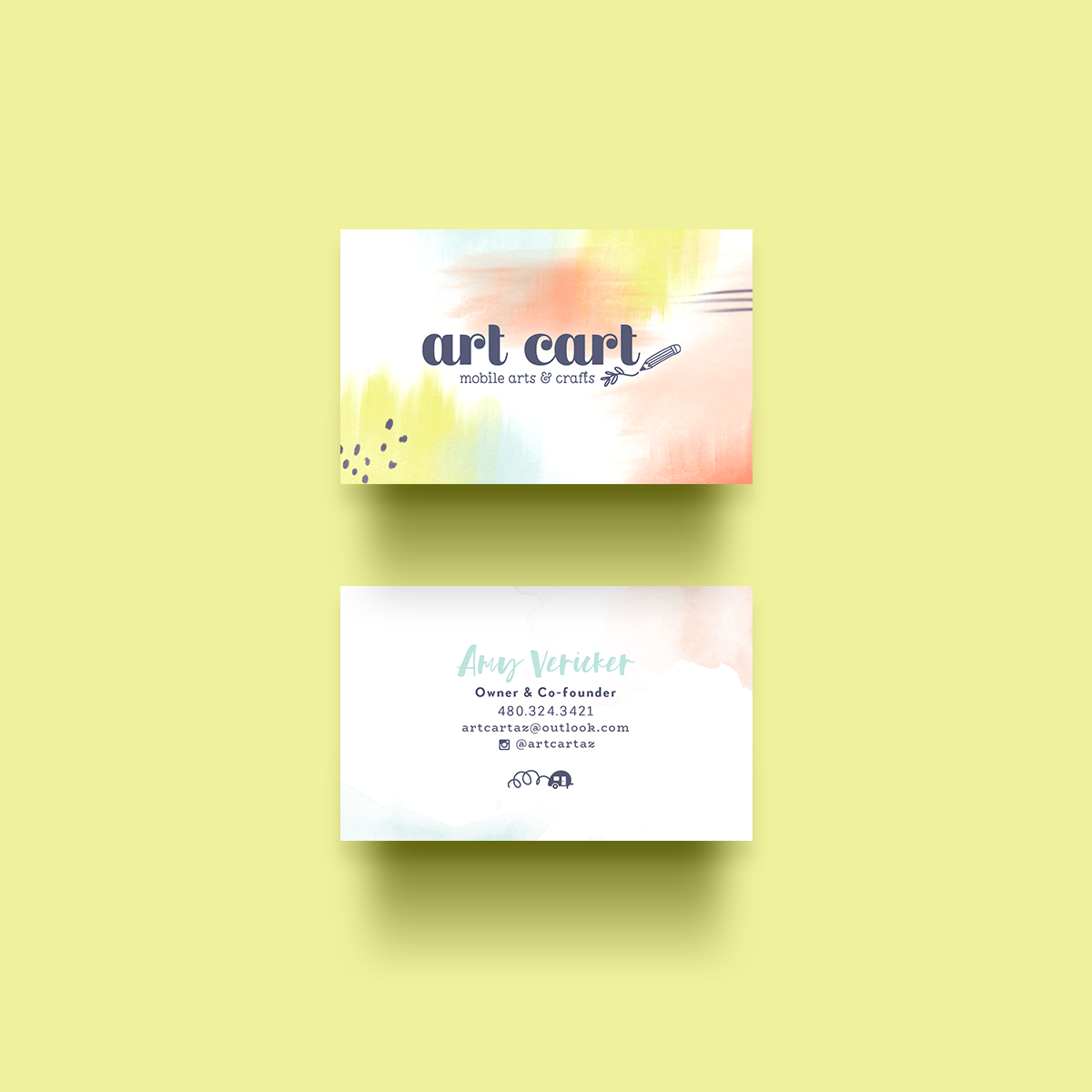 Art Cart business cards by Pace Creative Design Studio