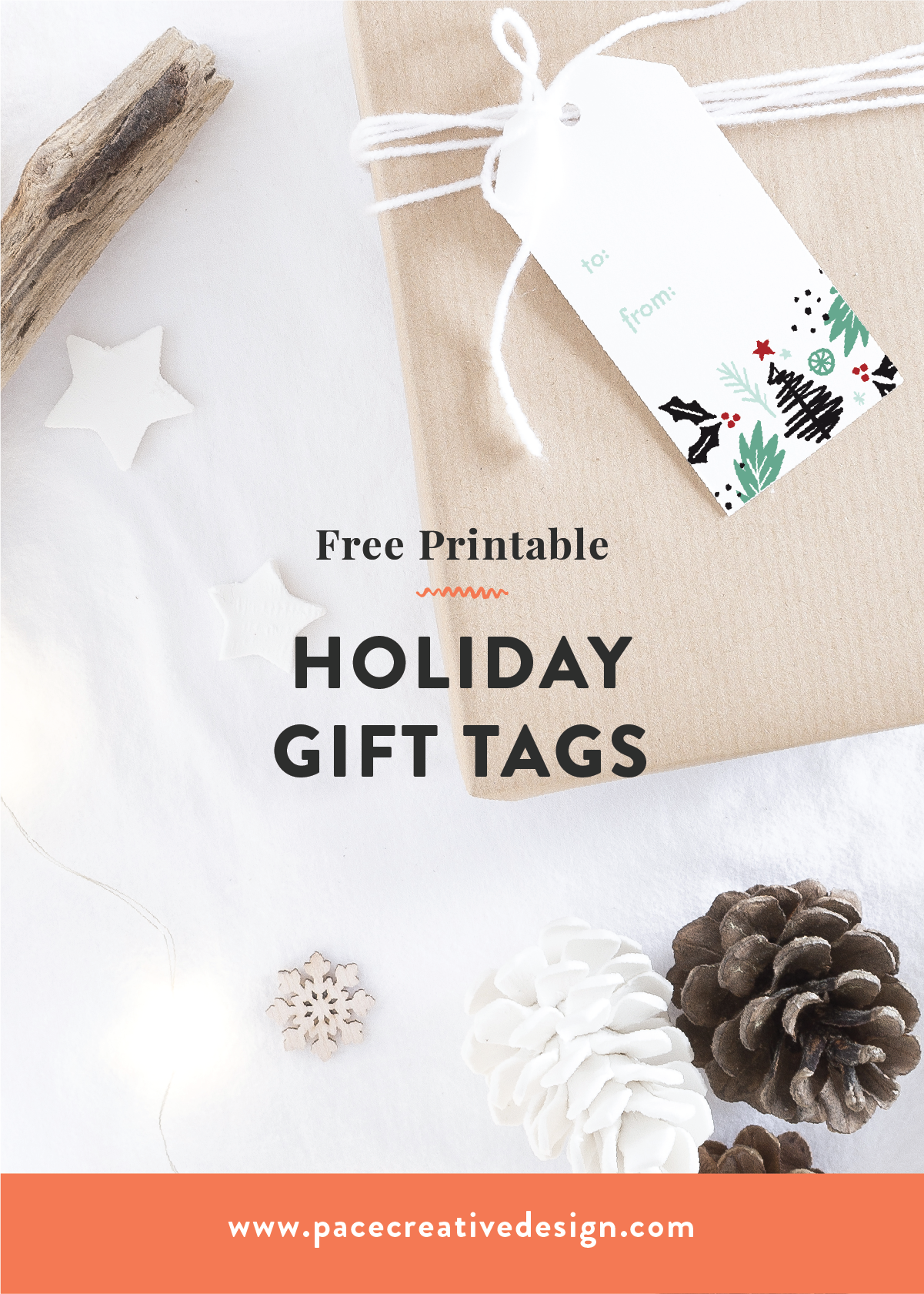 FREE Printable Holiday Gift Tags designed by Pace Creative Design Studio