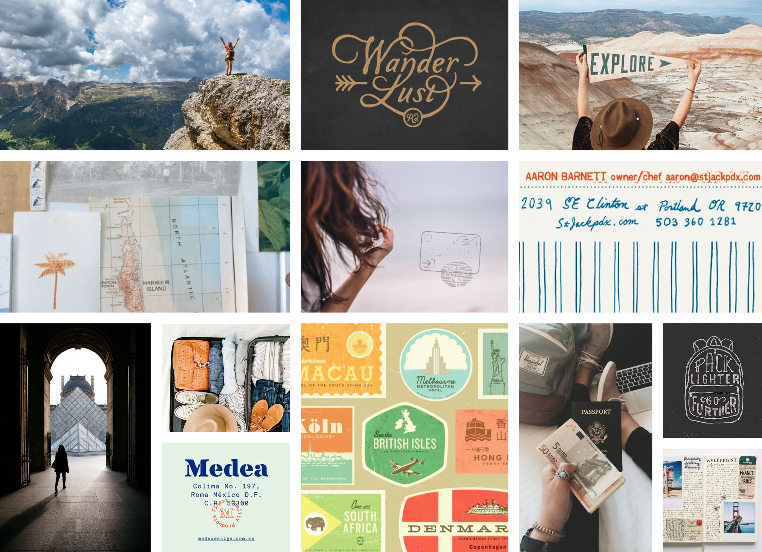 Her Packing List brand mood board by Pace Creative Design Studio