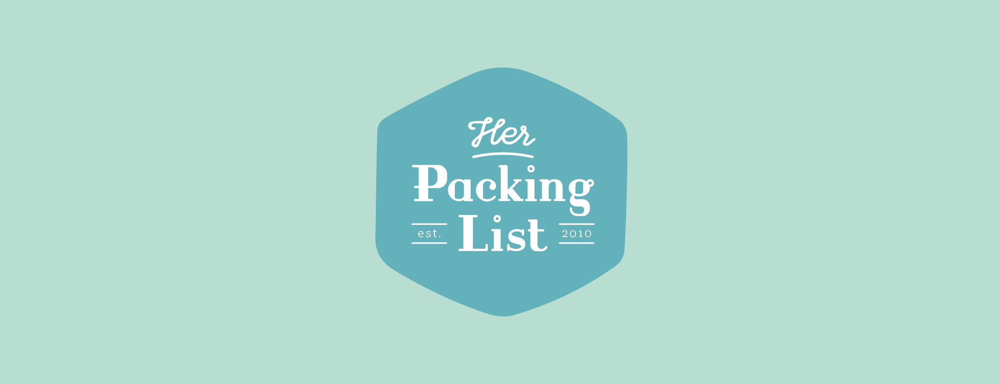 Her Packing List logo design by Pace Creative Design Studio