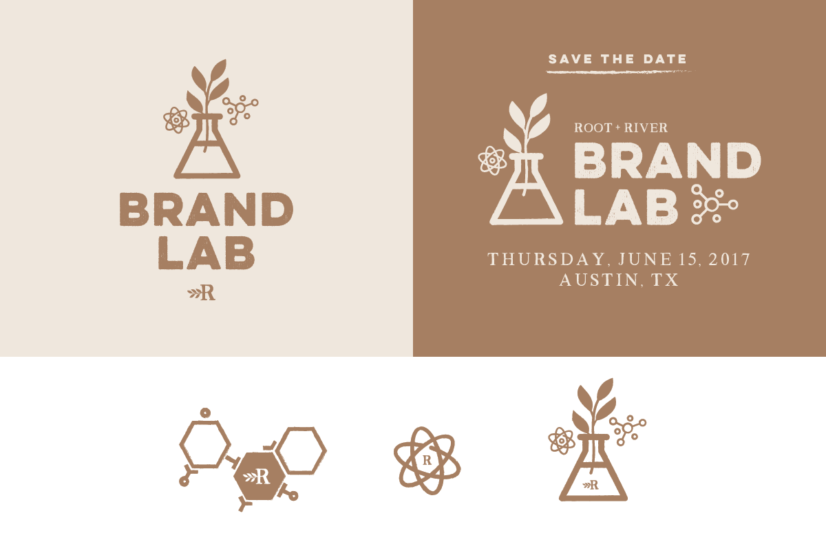 Root + River Brand Lab design by Pace Creative Design Studio