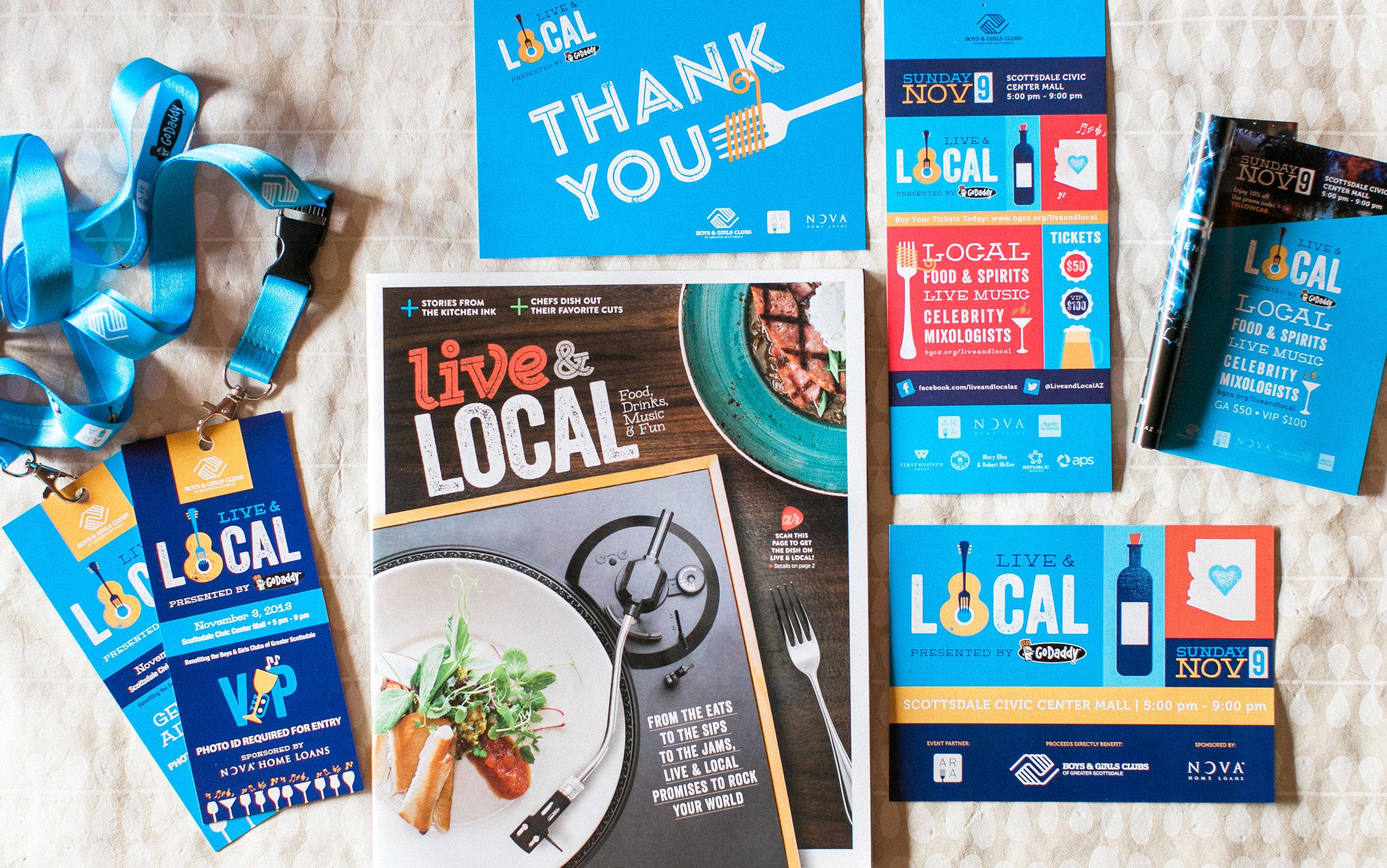 Live & Local event brand design by Pace Creative Design Studio