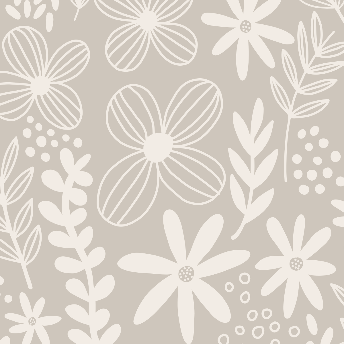 Graphic floral pattern design by Pace Creative Design Studio