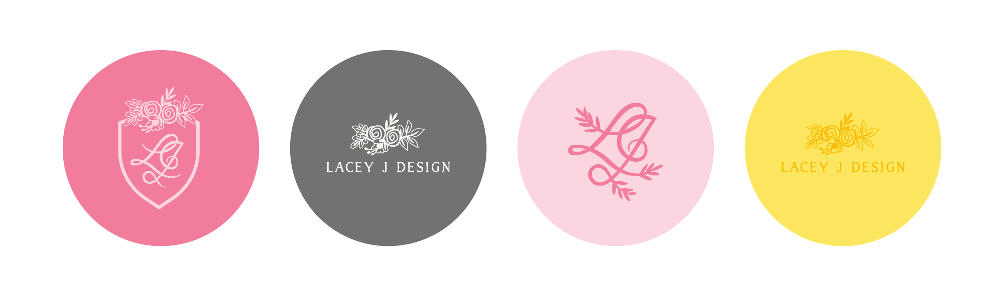 Lacey J Design brand stickers | Collaboration between Spruce Rd and Pace Creative Design Studio