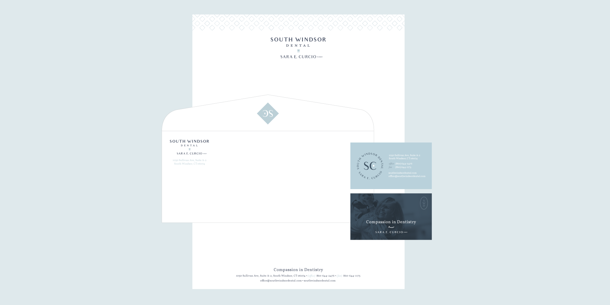 South Windsor Dental brand collateral   Pace Creative Design Studio
